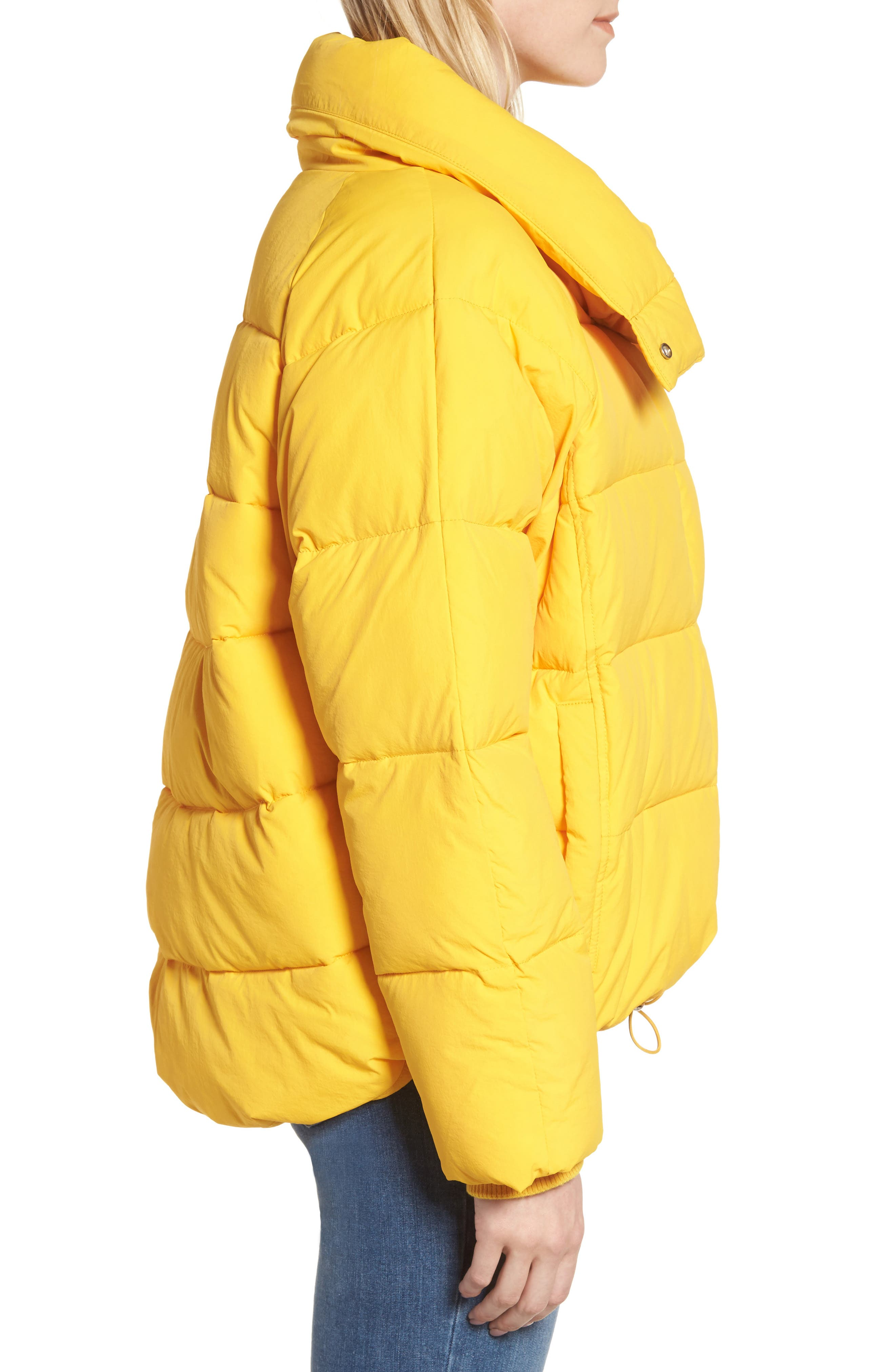 Puffer Coat,                             Alternate thumbnail 4, color,                             Yellow