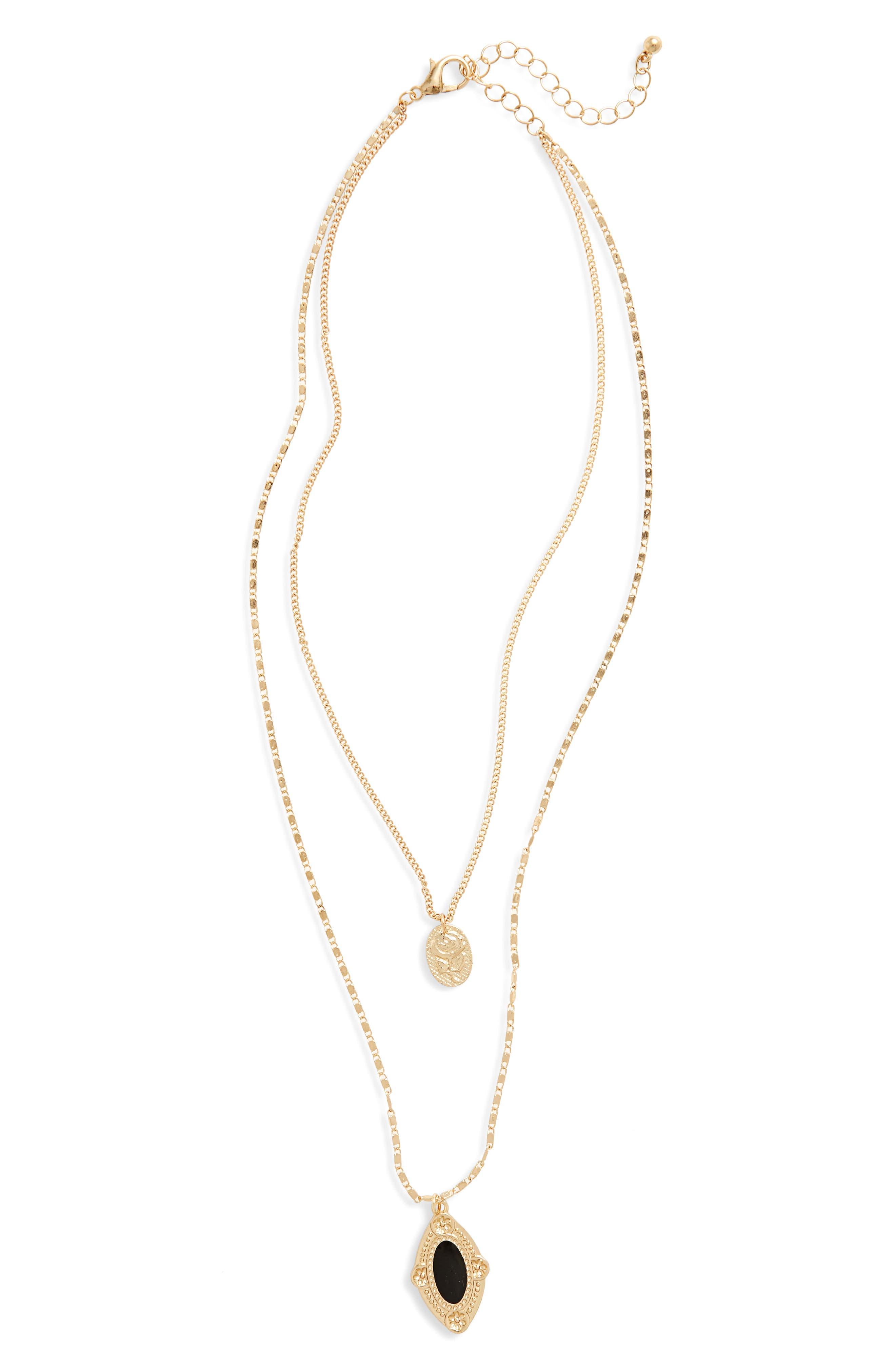 Main Image - BP. Layered Medallion Necklace