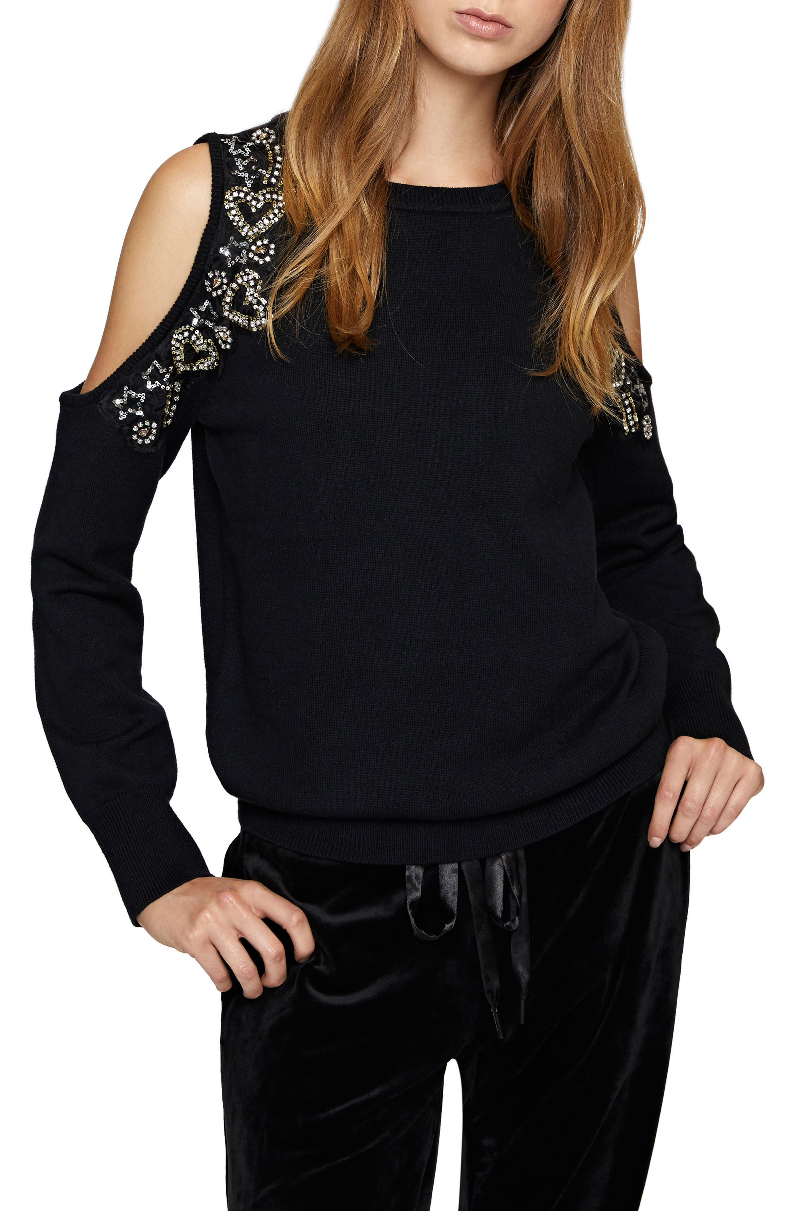 Sanctuary Heart and Soul Embellished Sweater