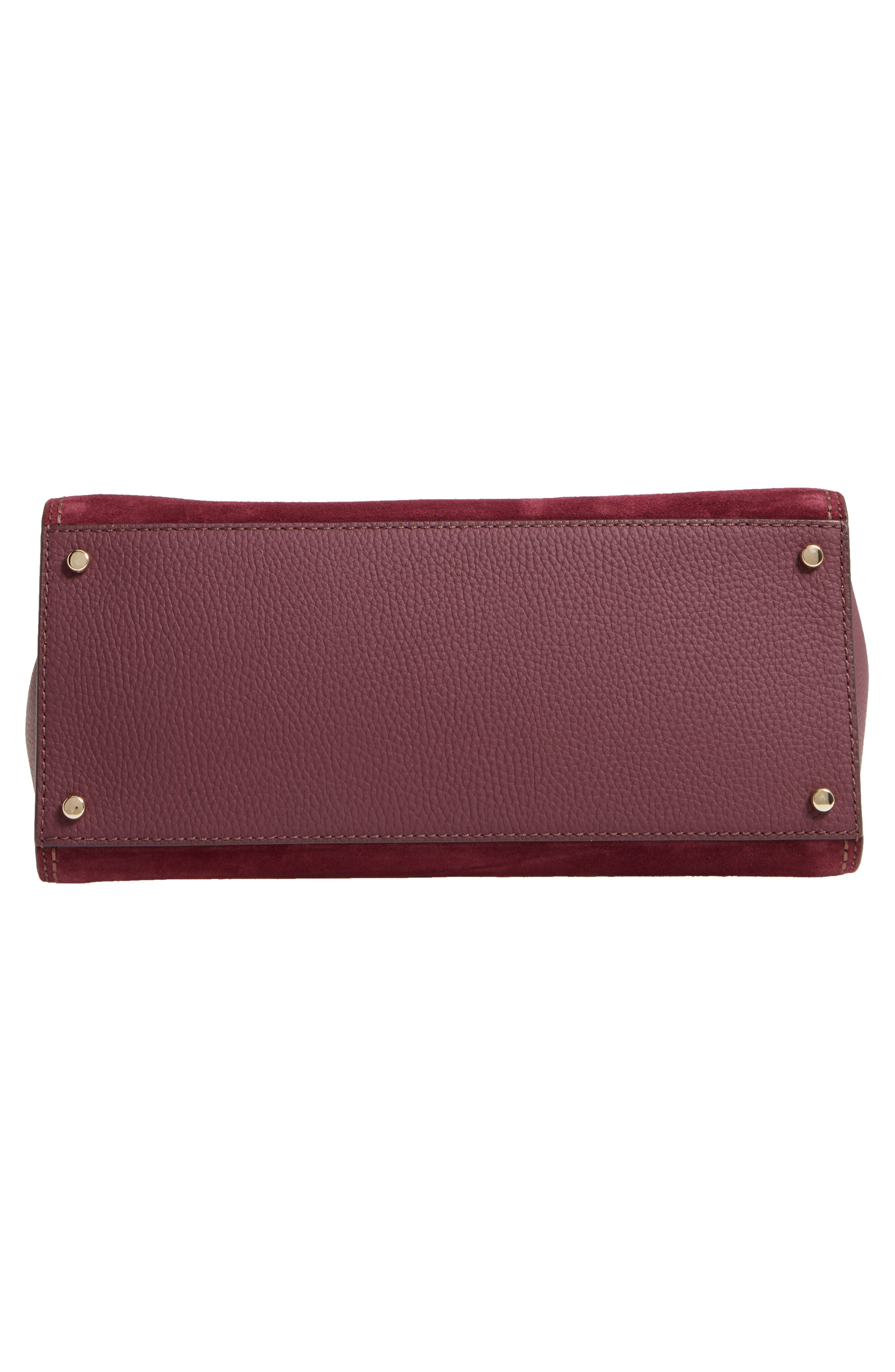 dunne lane lake suede satchel,                             Alternate thumbnail 6, color,                             Deep Wine