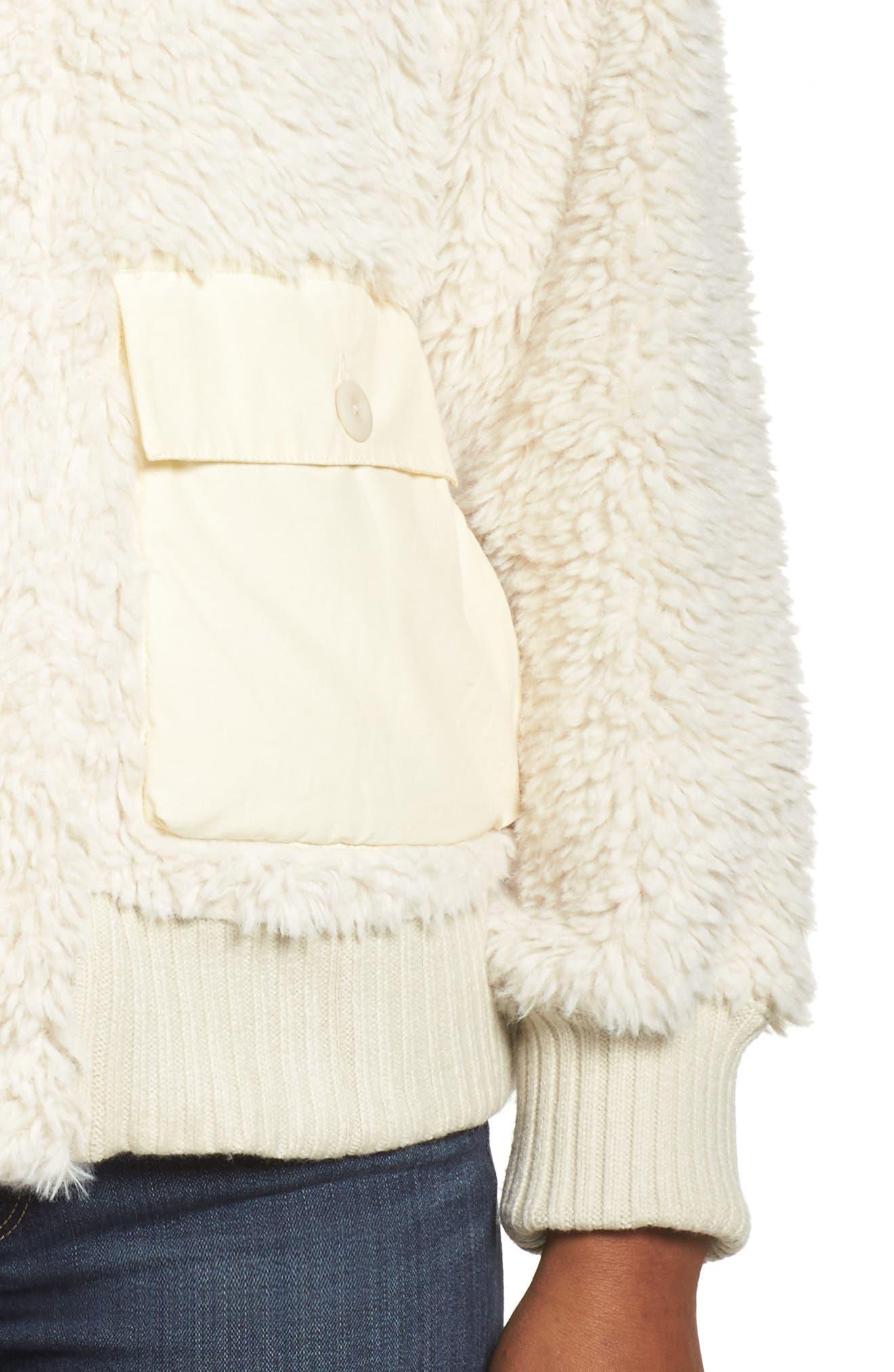 Shawmut High Pile DRYRIDE Thermex Fleece Jacket,                             Alternate thumbnail 4, color,                             Bone White