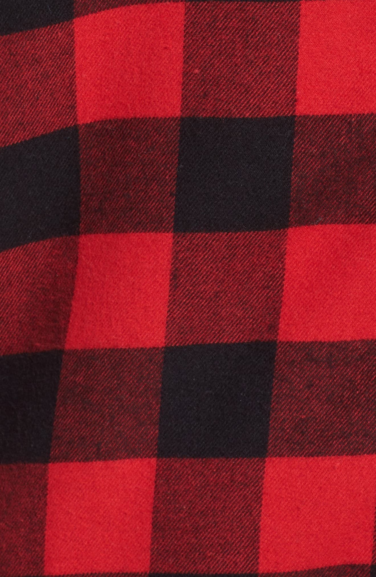 Flannel Pajamas,                             Alternate thumbnail 7, color,                             Red Pepper Buffalo Check