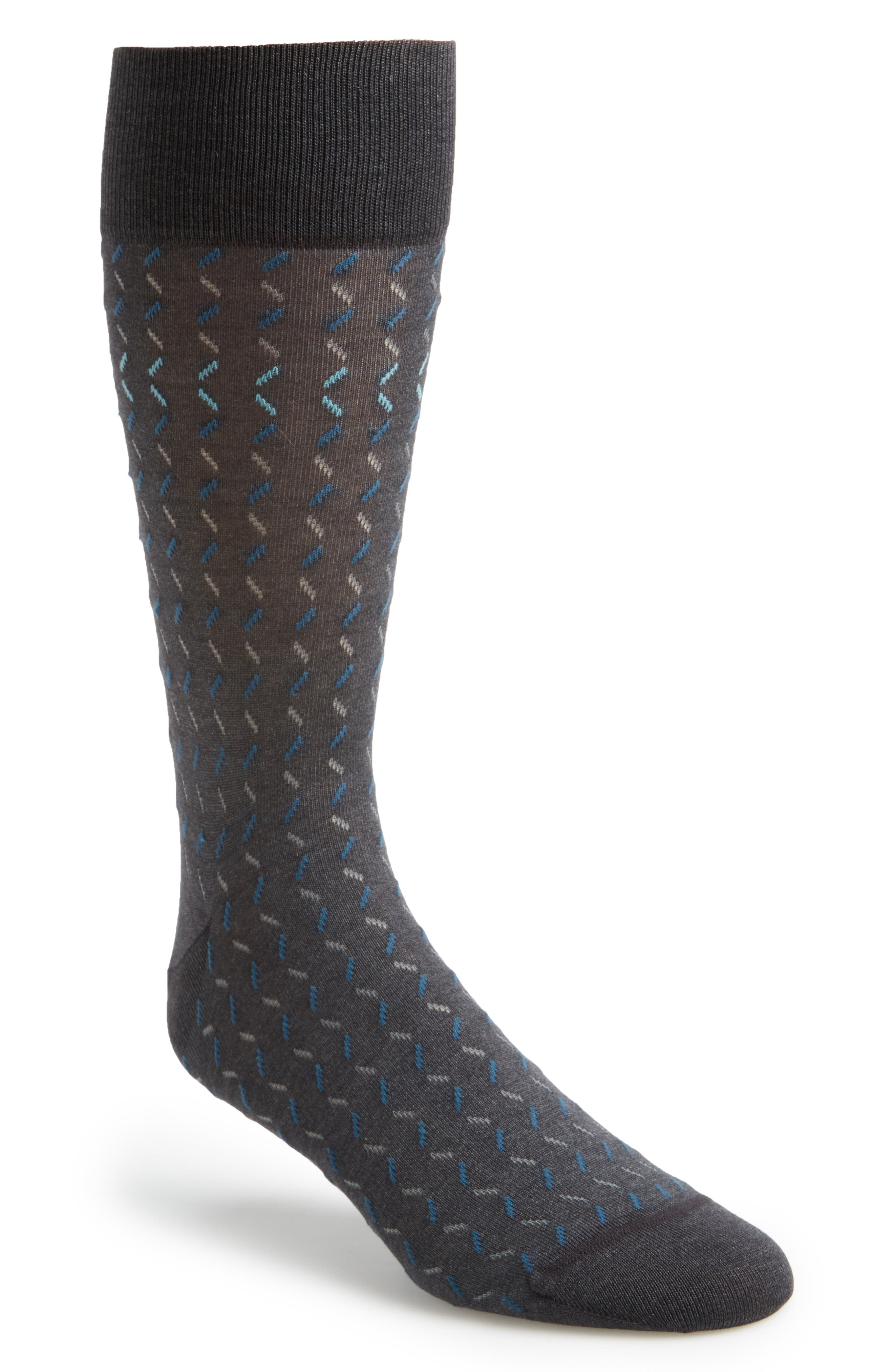 Dash Socks,                             Main thumbnail 1, color,                             Charcoal/ Teal
