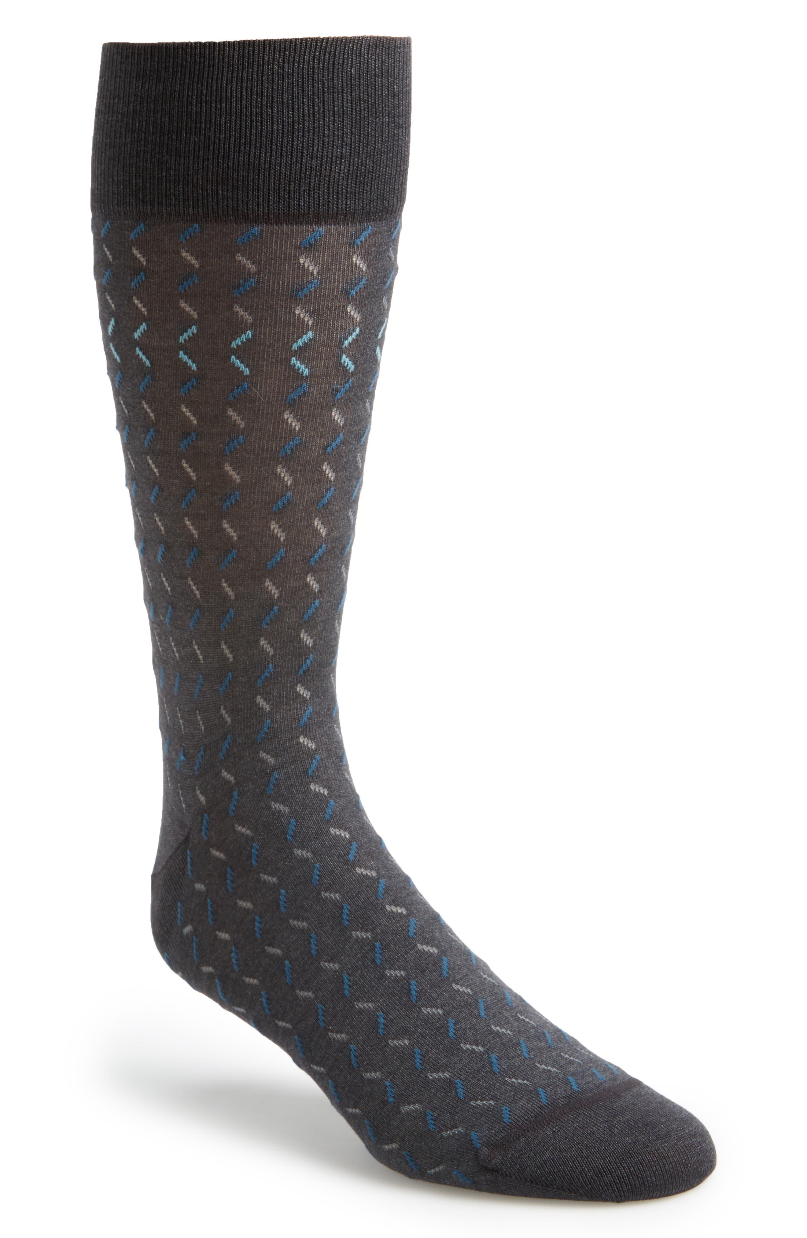 Dash Socks,                         Main,                         color, Charcoal/ Teal