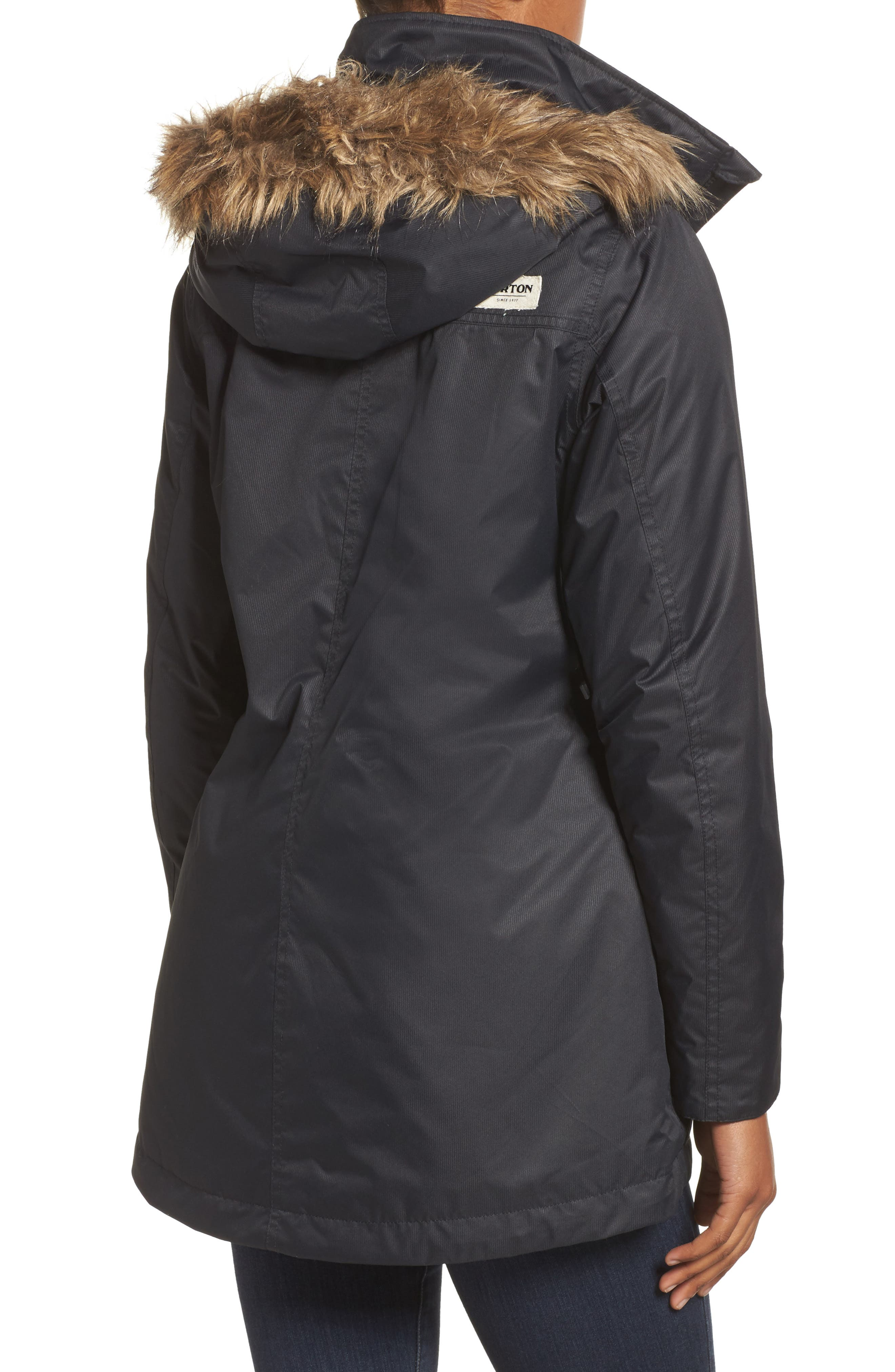 Alternate Image 2  - Burton Hazel Waterproof Hooded Jacket with Removable Faux Fur Trim