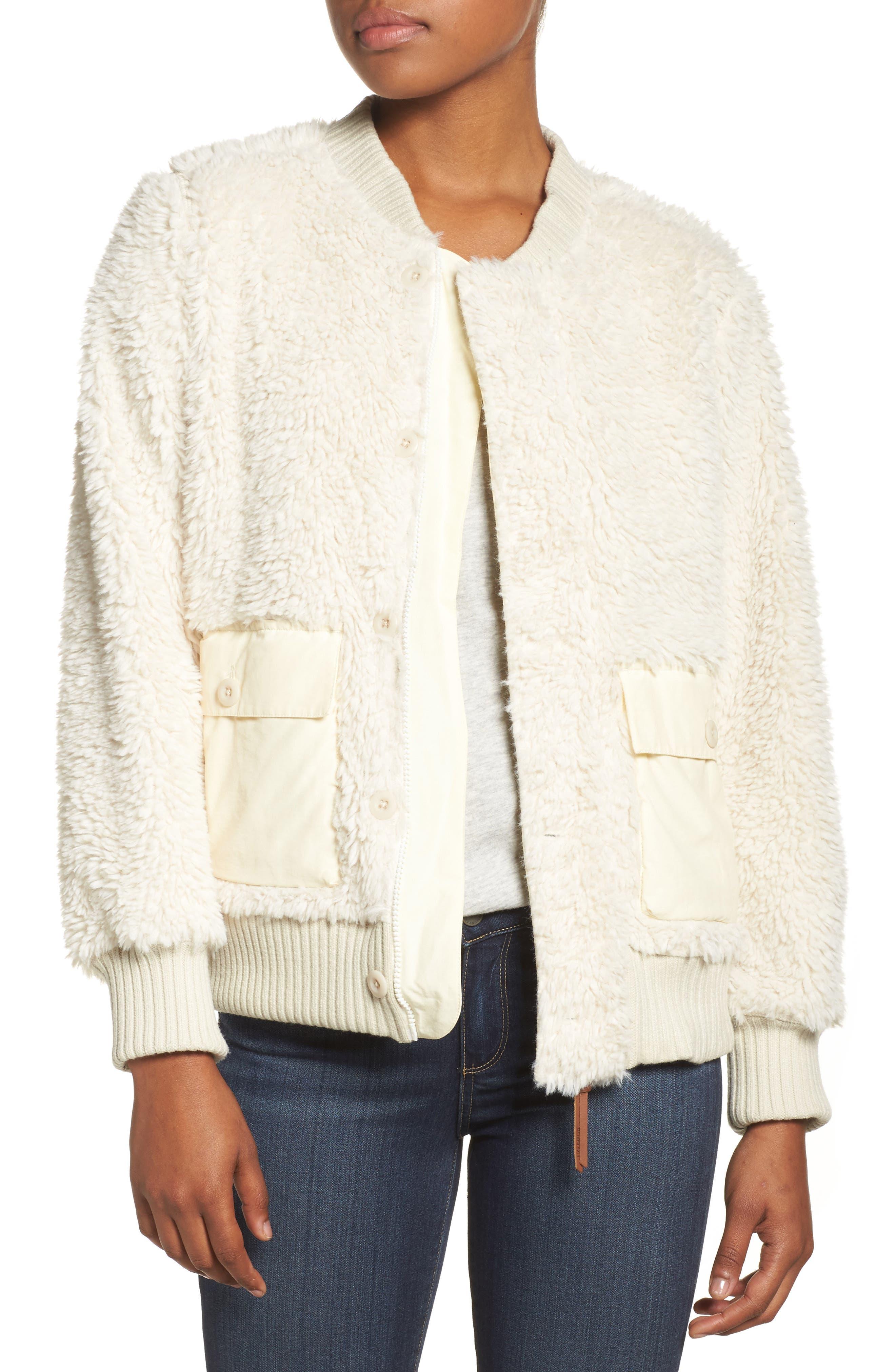 Shawmut High Pile DRYRIDE Thermex Fleece Jacket,                             Main thumbnail 1, color,                             Bone White
