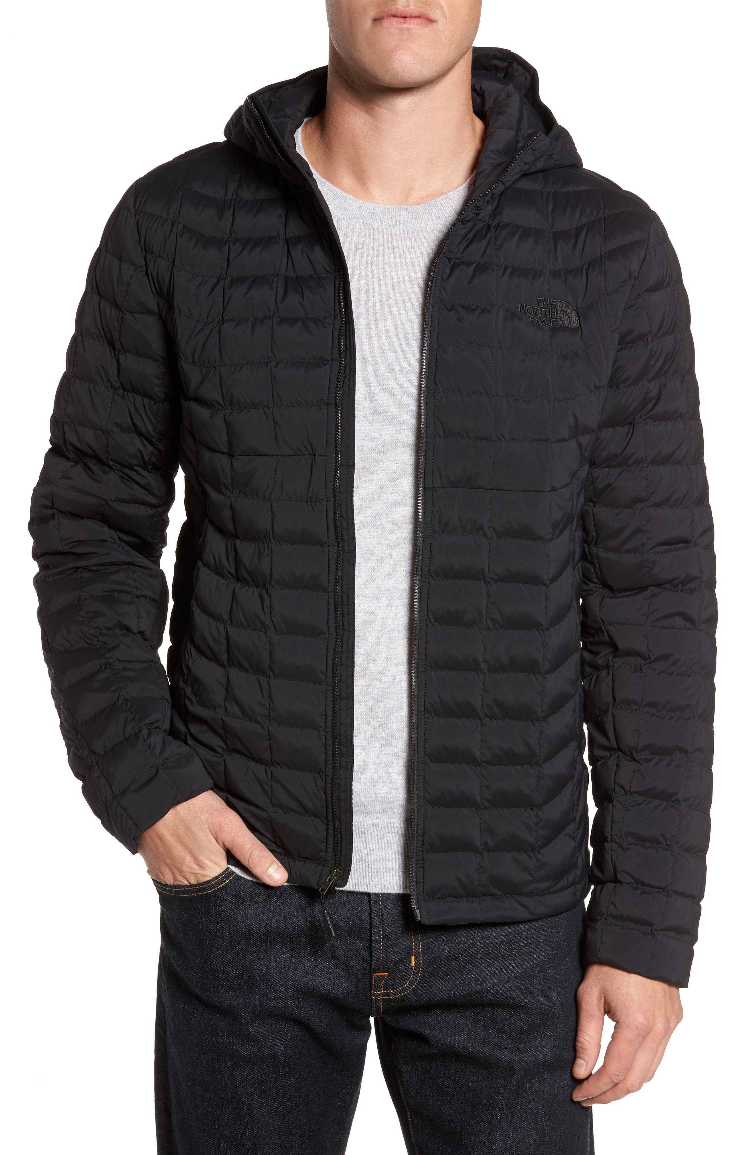 Packable Stretch ThermoBall<sup>™</sup> PrimaLoft<sup>®</sup> Jacket,                         Main,                         color, Black