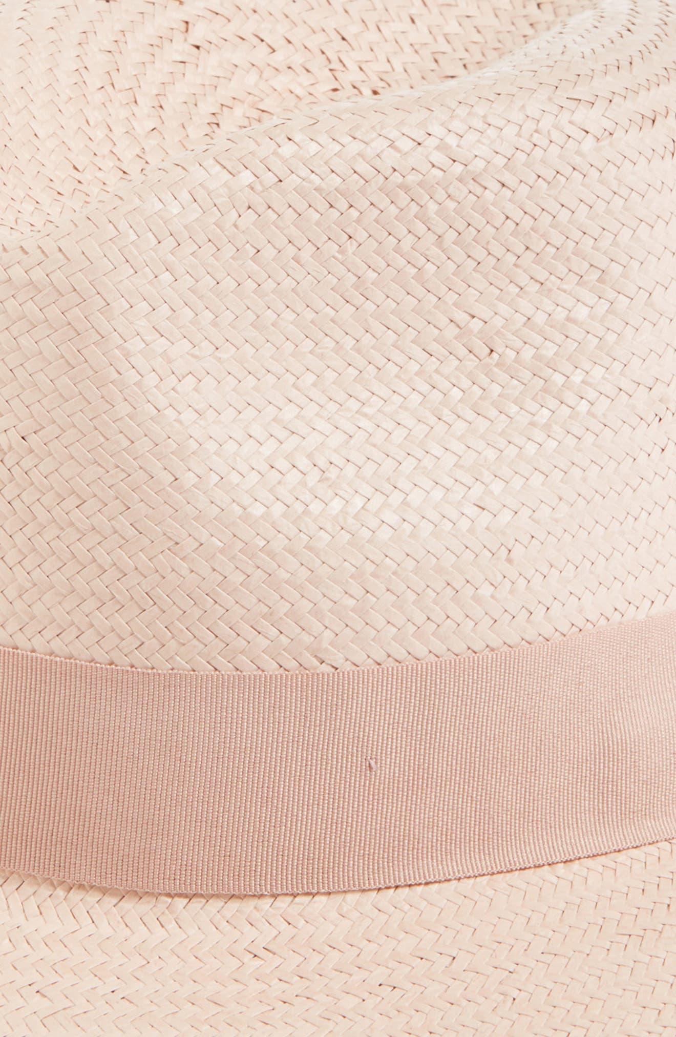 Straw Panama Hat,                             Alternate thumbnail 2, color,                             Blush