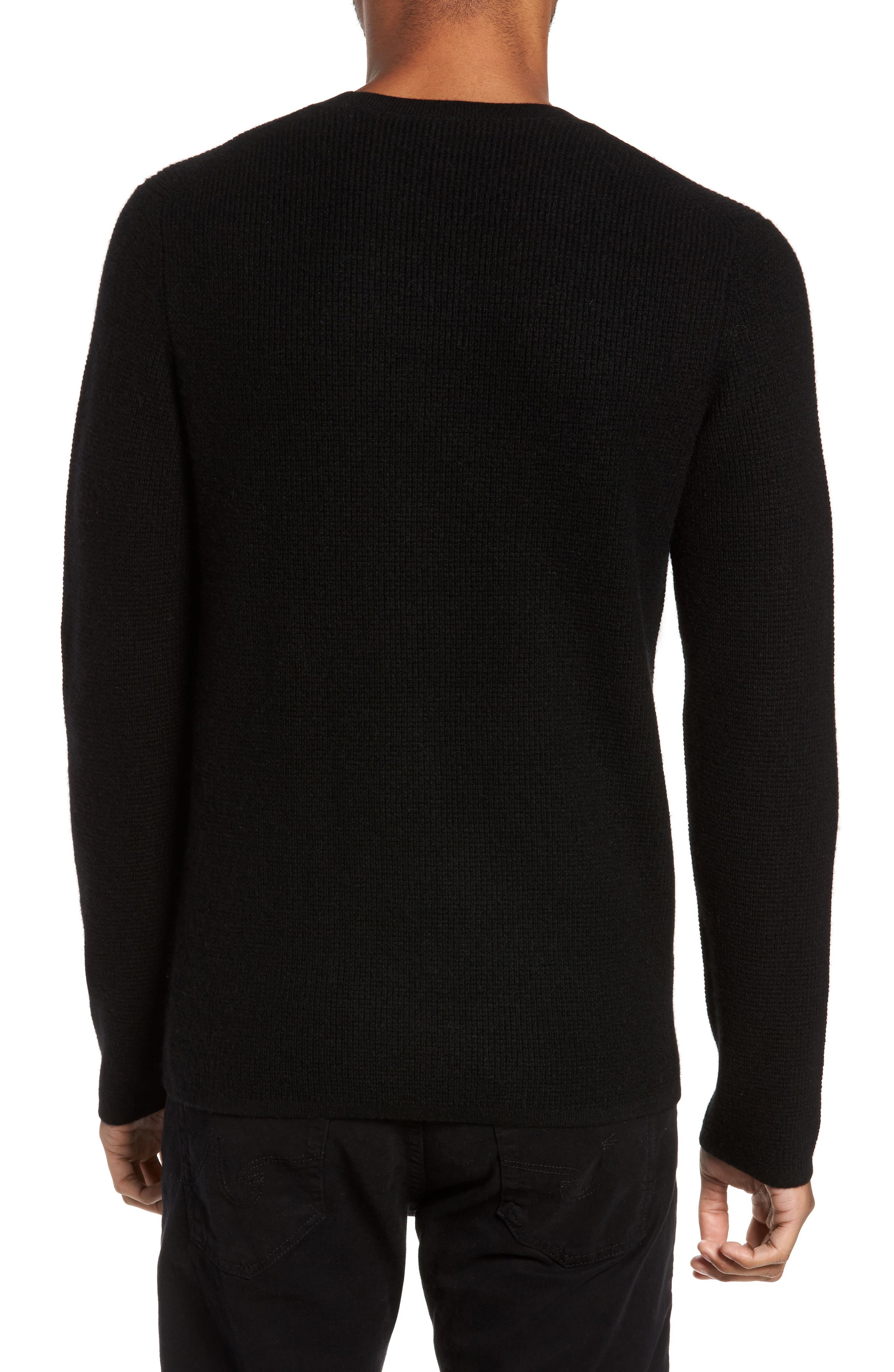 Thermal Wool & Cashmere Sweater,                             Alternate thumbnail 2, color,                             Black