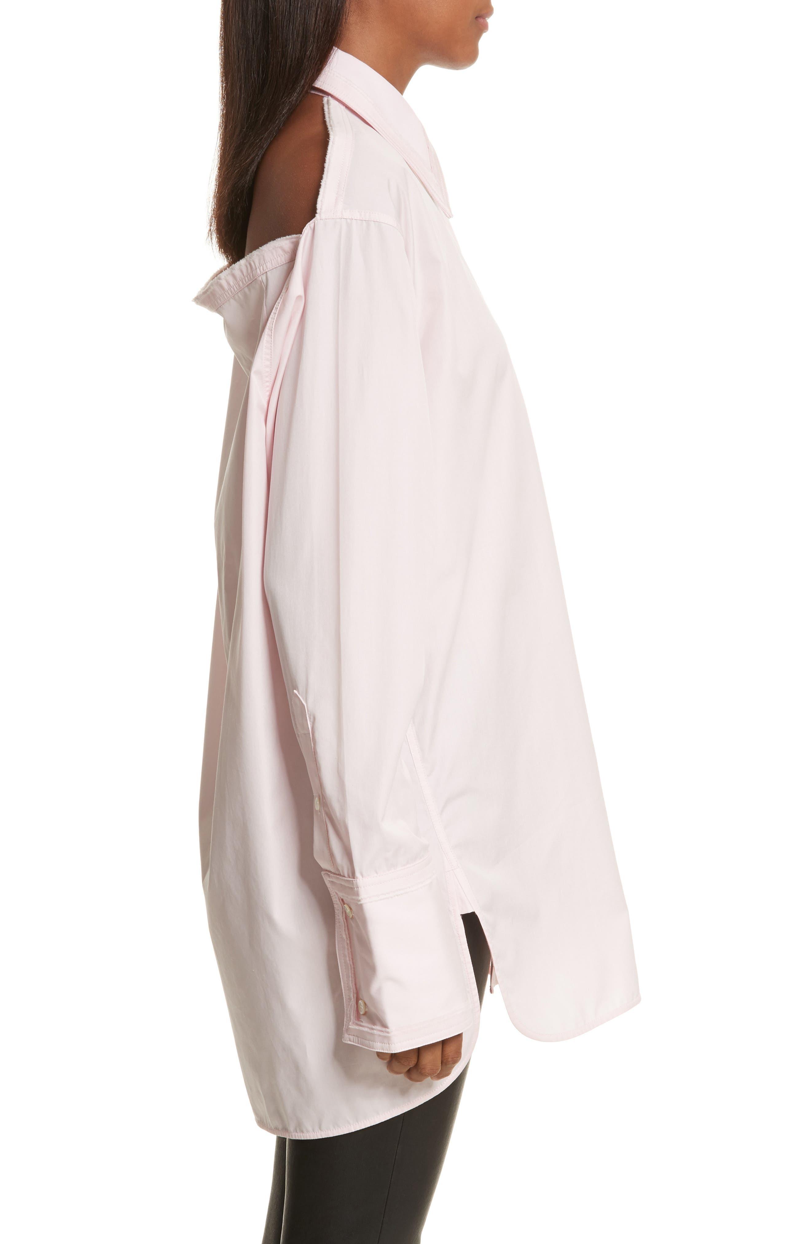 Alternate Image 3  - Helmut Lang Cutout Cotton Poplin Shirt