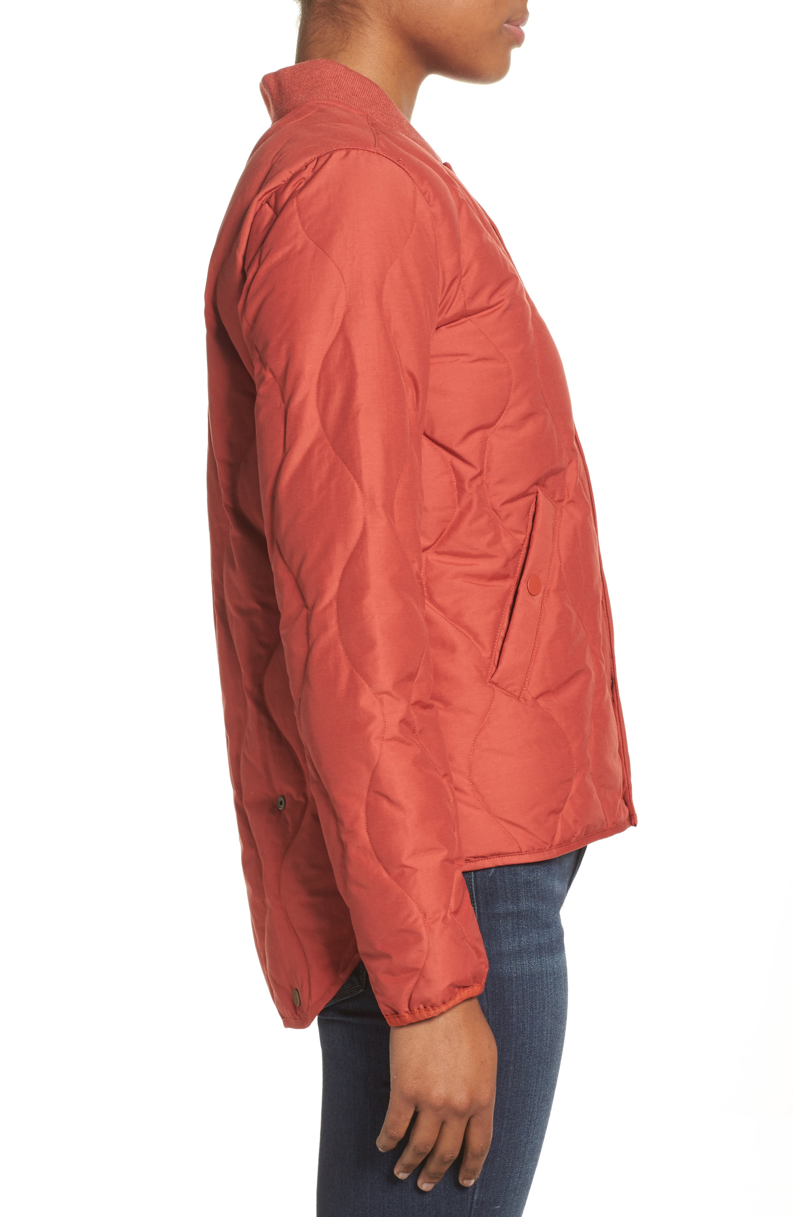 Kiley Quilted Down Insulator Jacket,                             Alternate thumbnail 3, color,                             Bitters