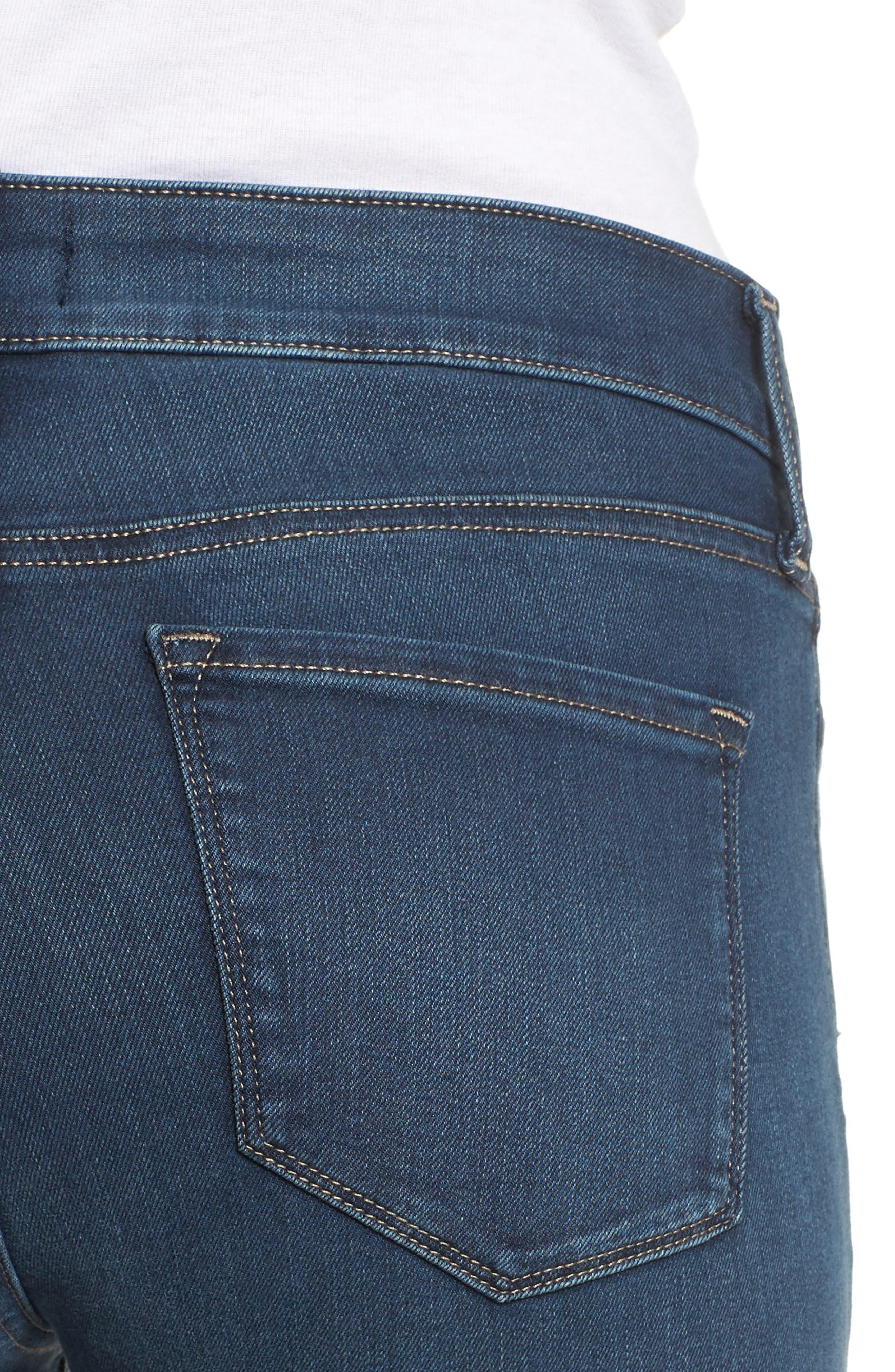 Ami Stretch Super Skinny Jeans,                             Alternate thumbnail 4, color,                             Rome