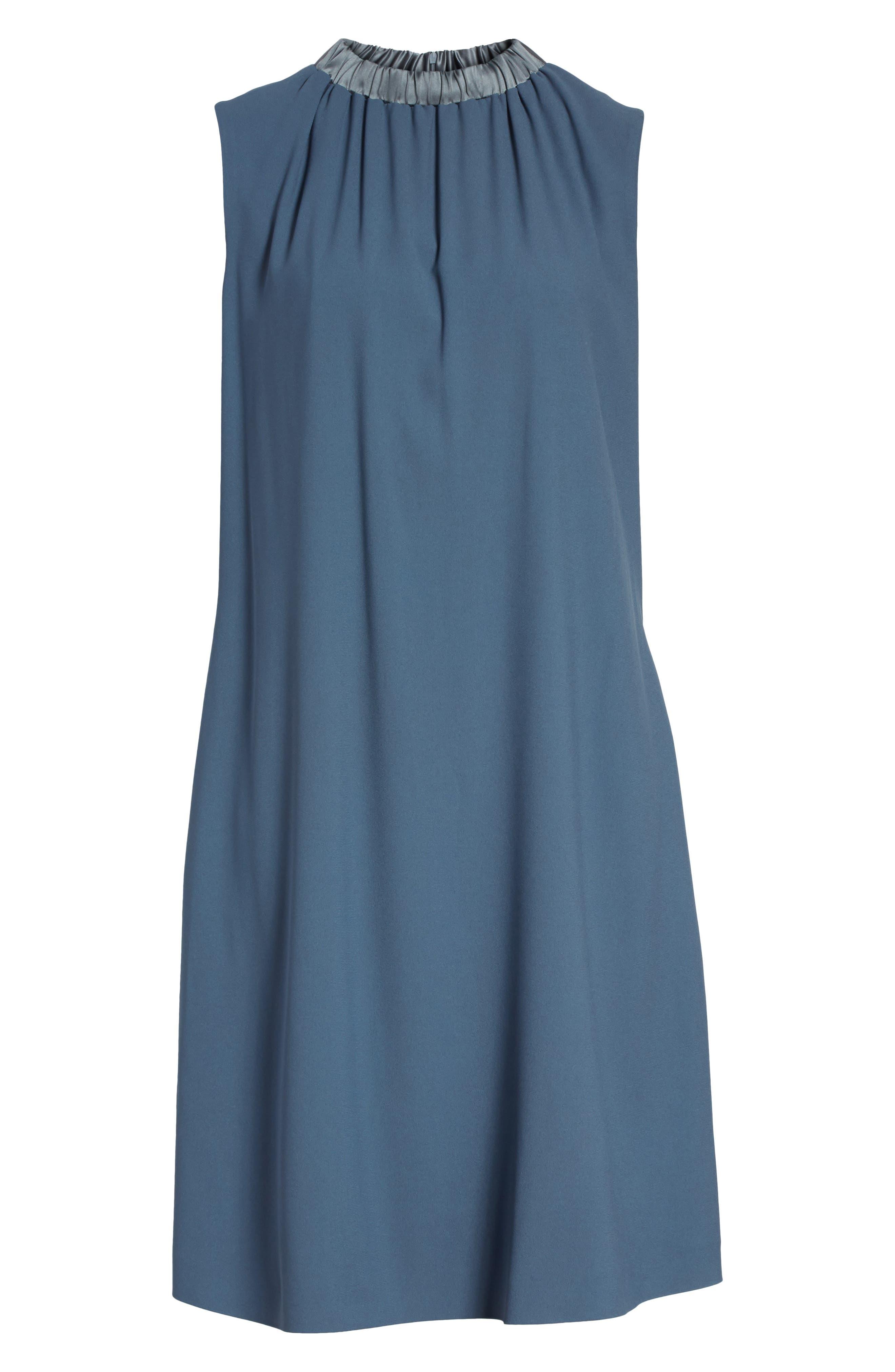Alternate Image 6  - Fabiana Filippi Satin Trim Crepe Dress