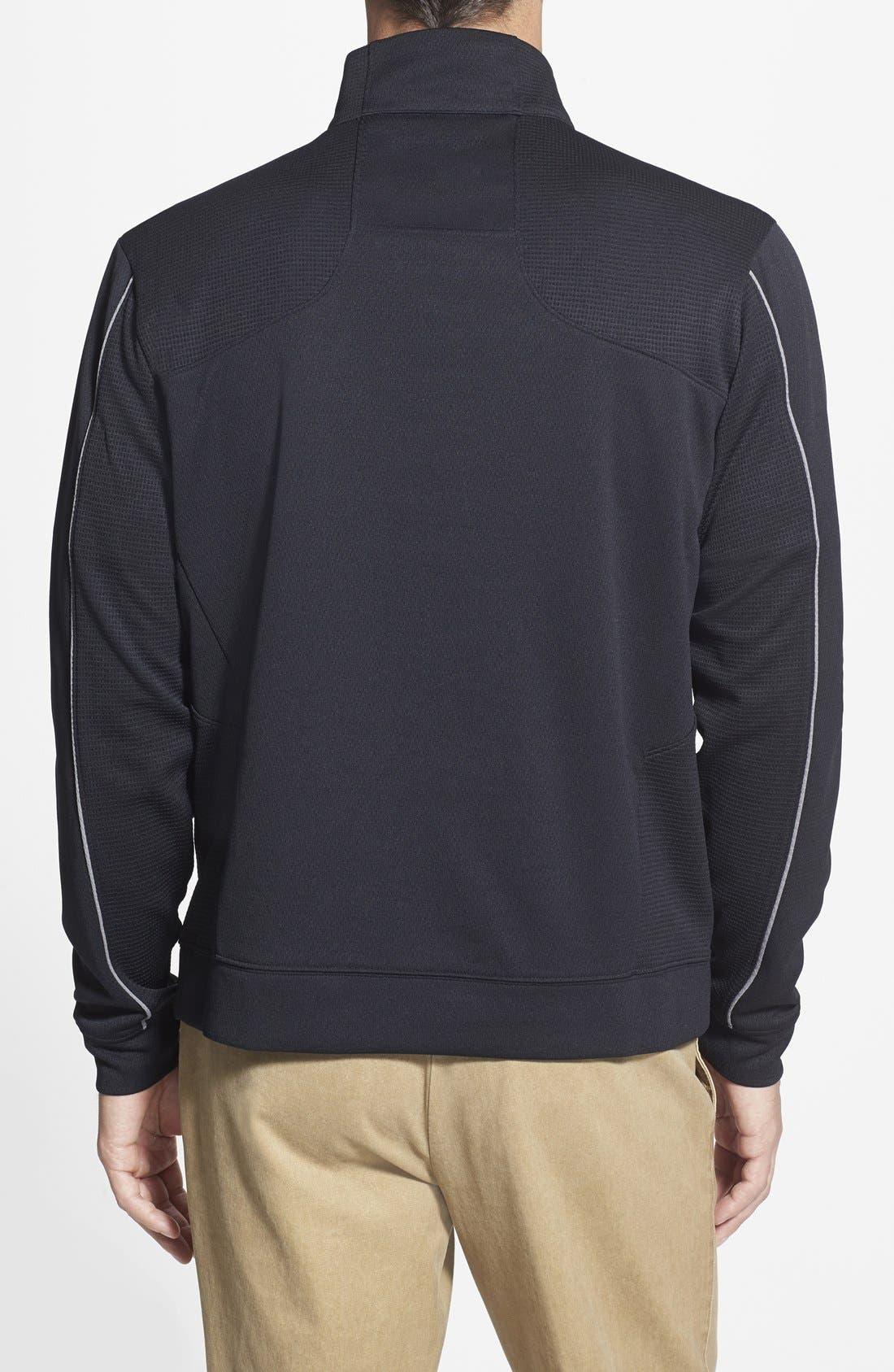Cincinnati Bengals - Edge DryTec Moisture Wicking Half Zip Pullover,                             Alternate thumbnail 2, color,                             Black