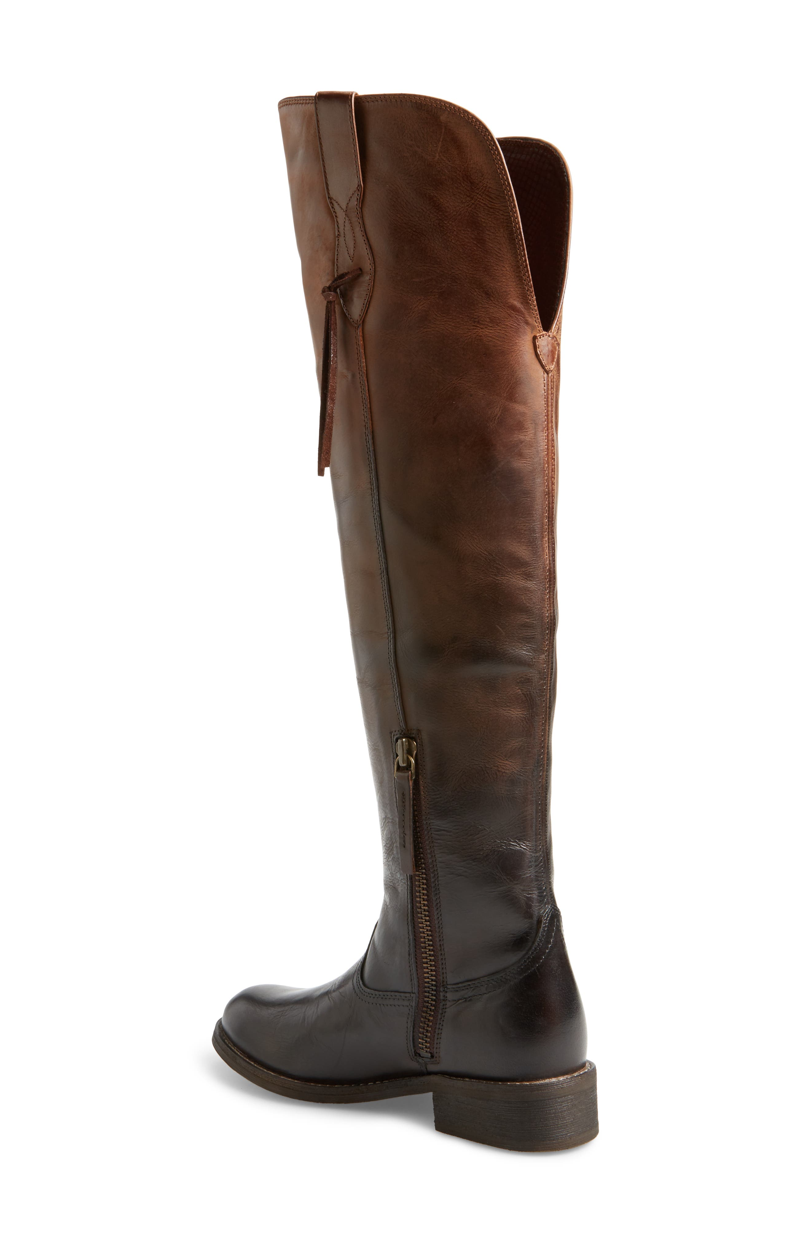 Farrah Over the Knee Boot,                             Alternate thumbnail 2, color,                             Sassy Chocolate Leather