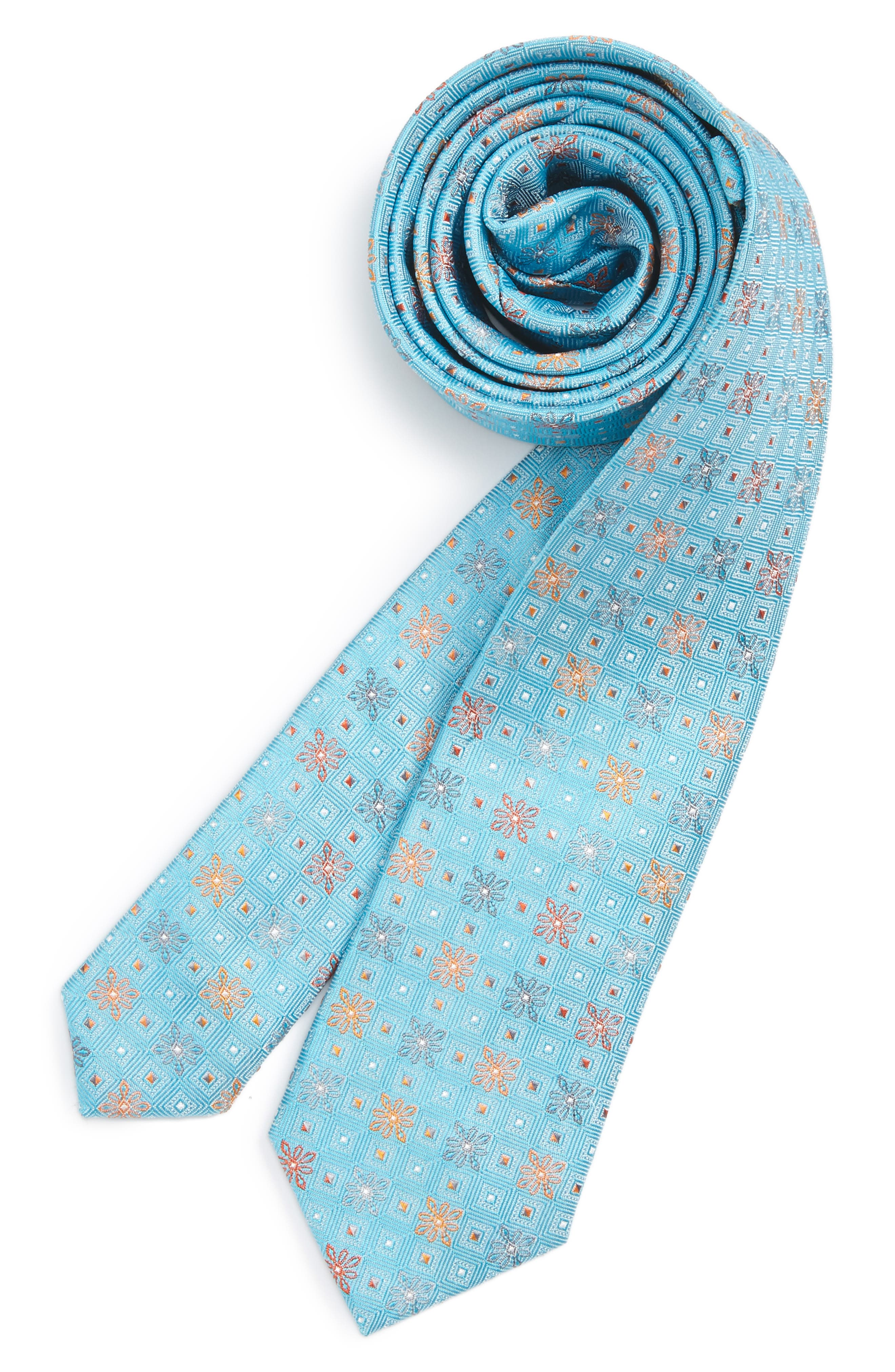 Michael Kors Medallion Silk Tie (Boys)