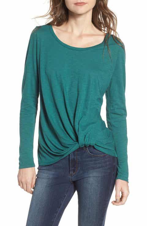 Women's Green Tops & Tees   Nordstrom