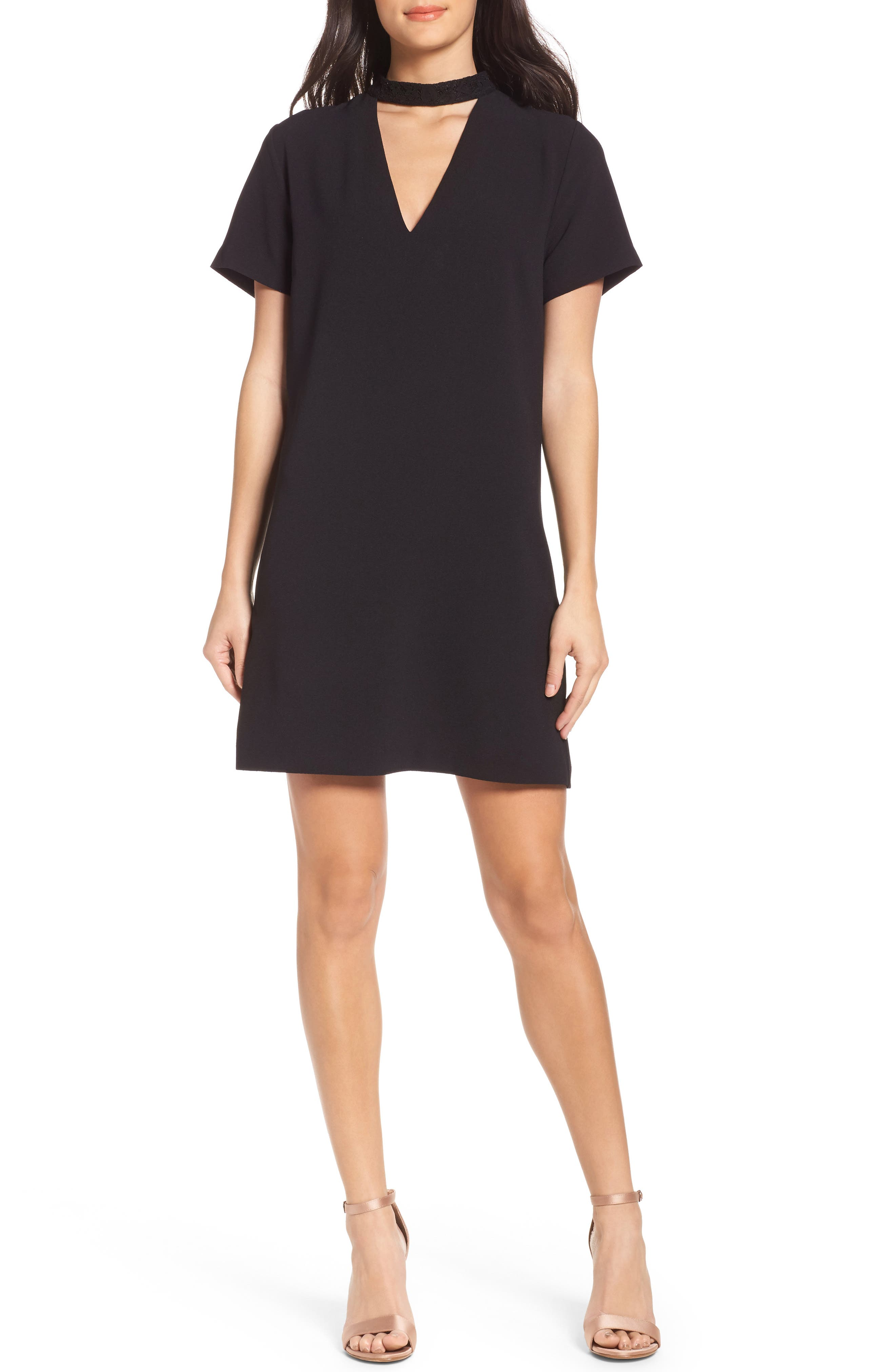 Main Image - Felicity & Coco Kimberly Choker Shift Dress (Nordstrom Exclusive)
