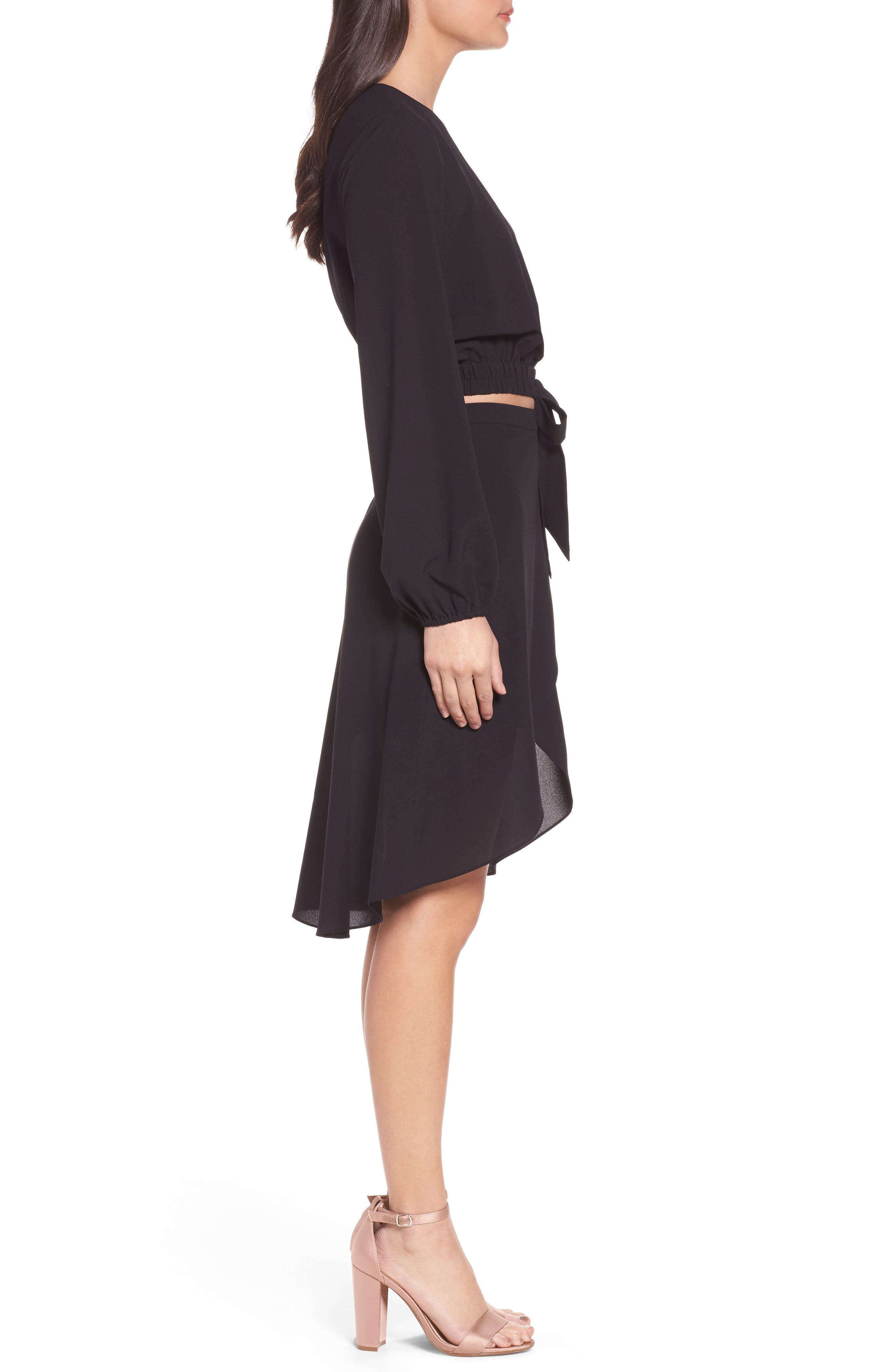 St. Tropez Two-Piece Dress,                             Alternate thumbnail 4, color,                             Black