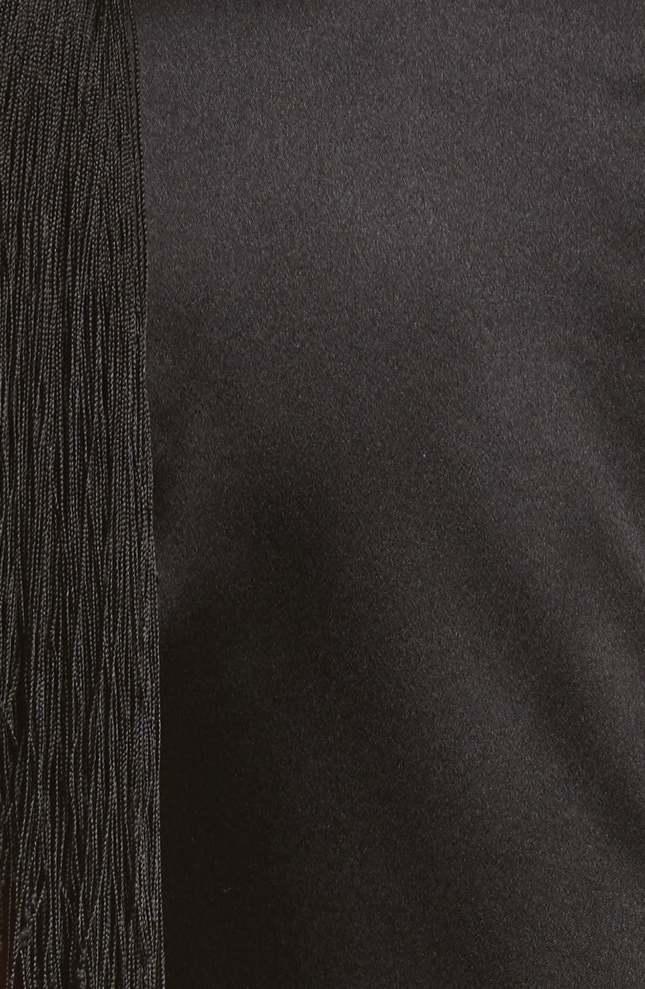 Alternate Image 5  - Helmut Lang Fringe Silk Minidress