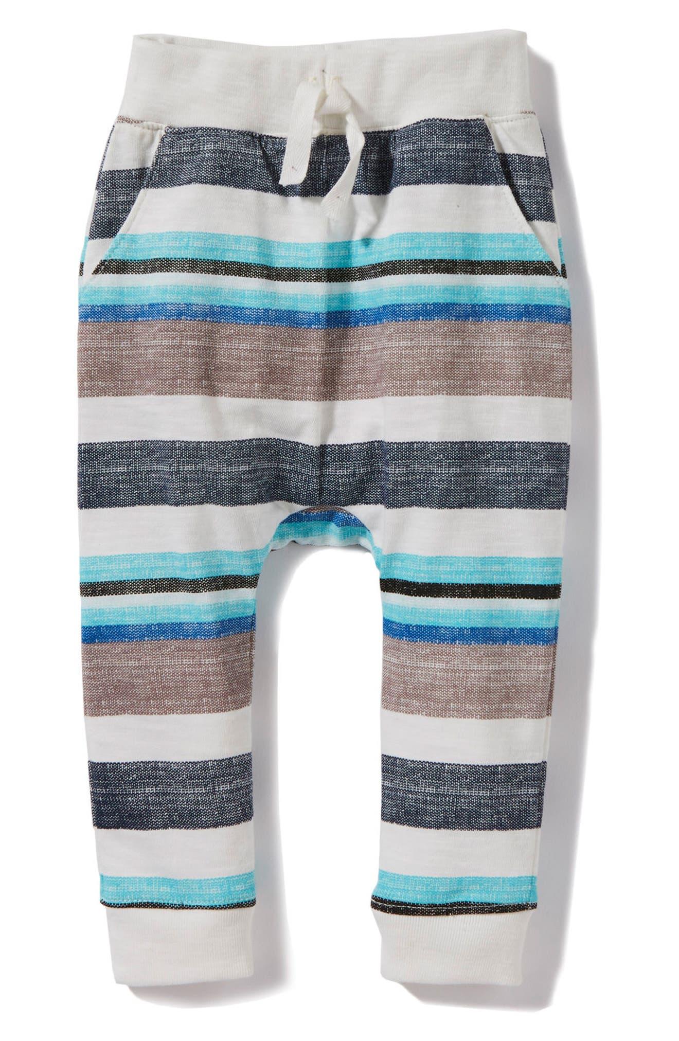 Peek Declan Stripe Pants,                         Main,                         color, Aqua