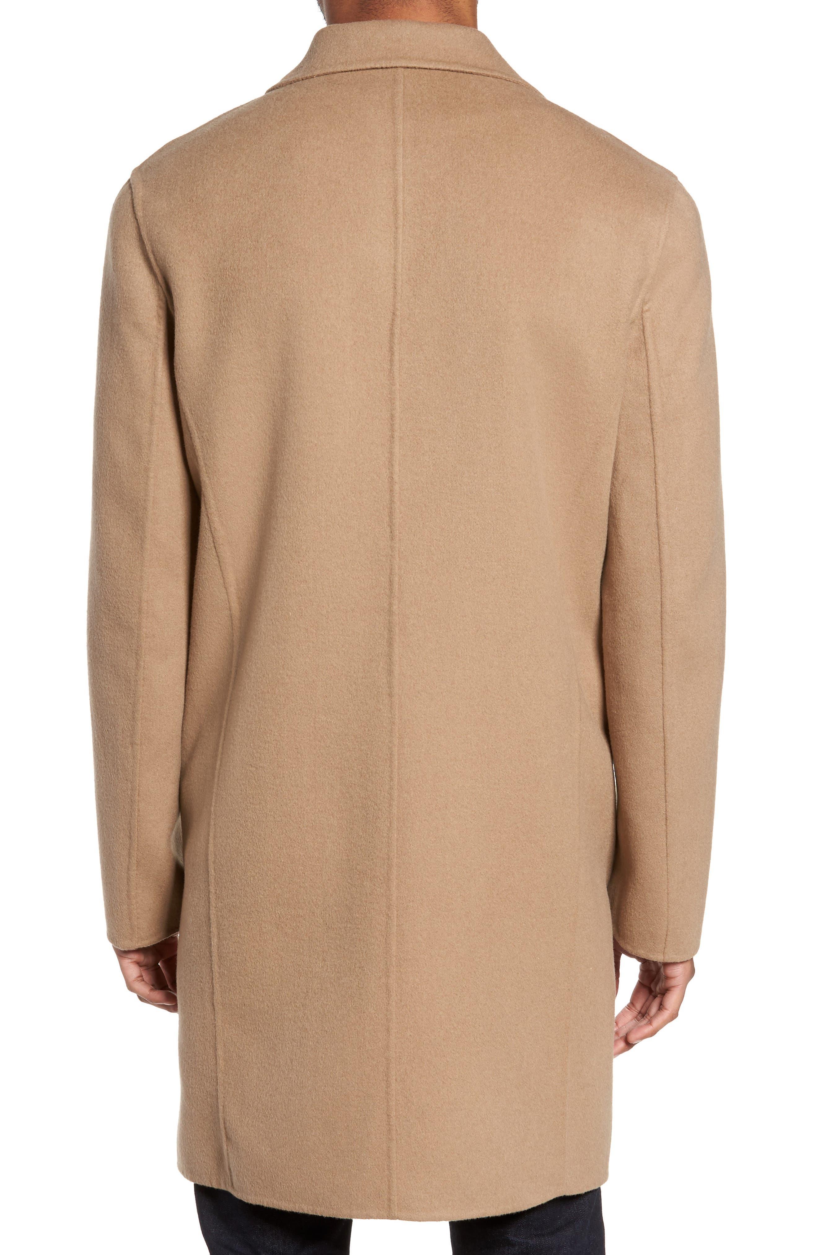 Wool Blend Topcoat,                             Alternate thumbnail 2, color,                             Camel