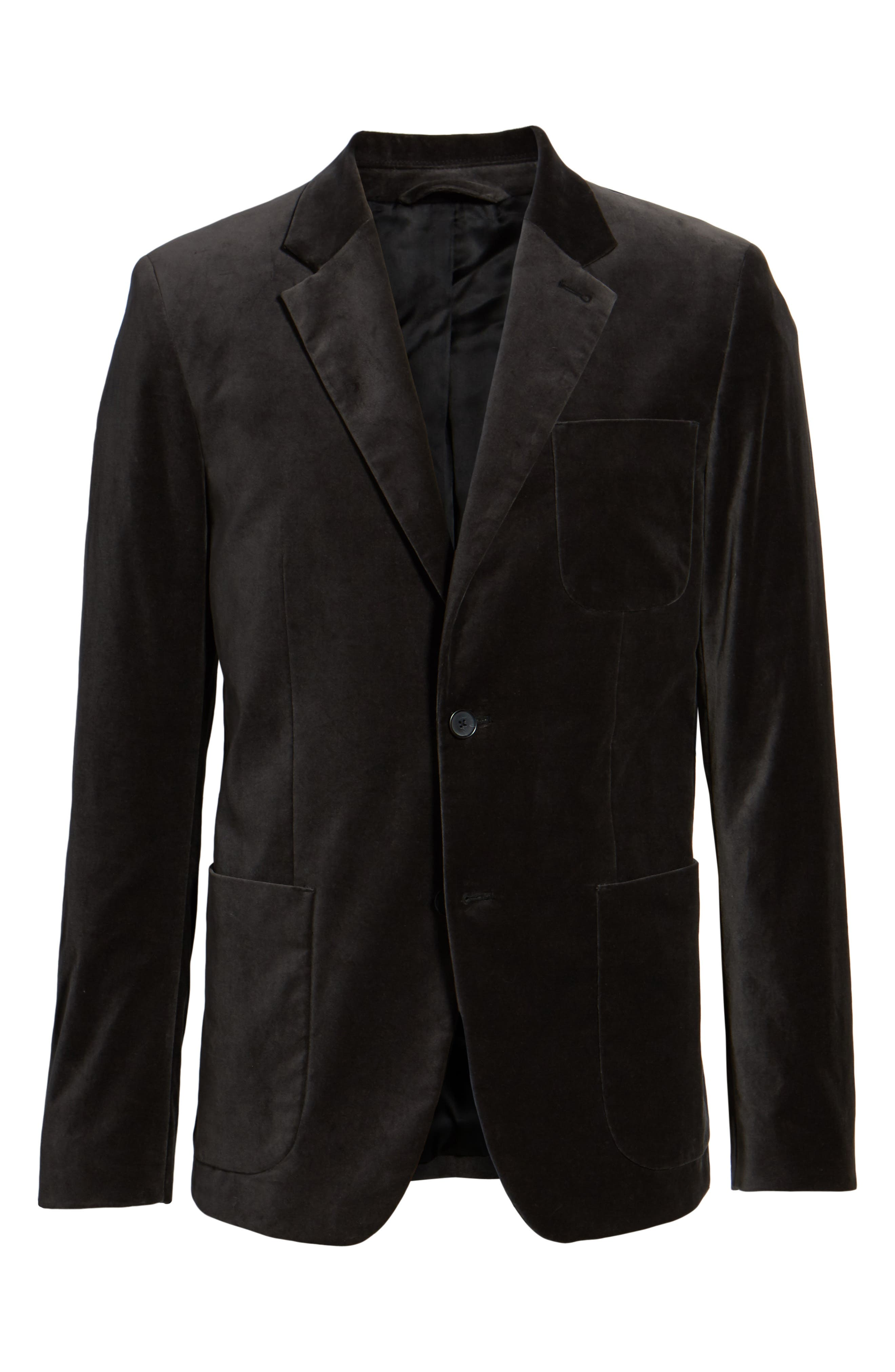 Alternate Image 6  - Vince Velvet Patch Pocket Blazer