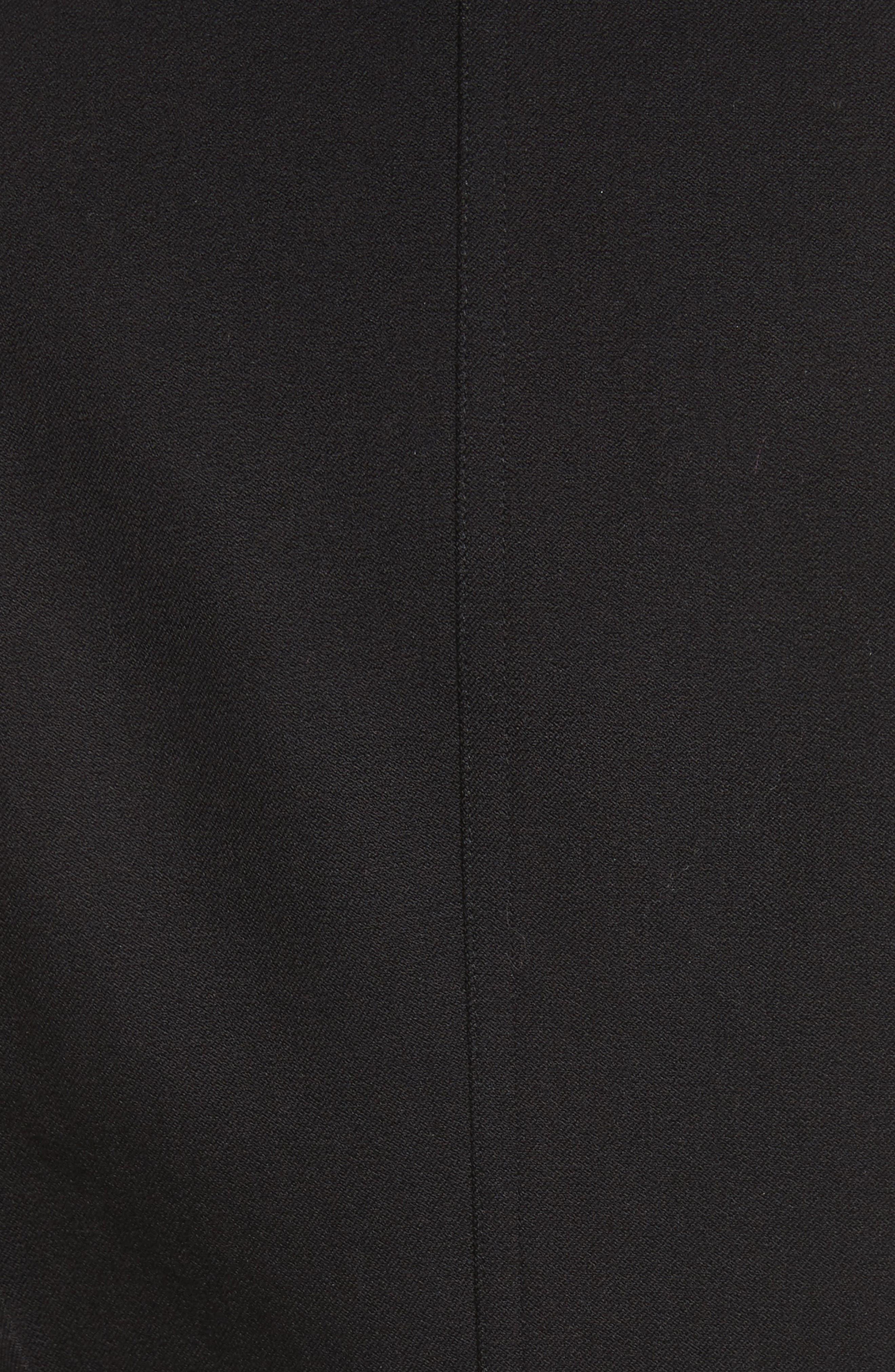 Grommet Tie Back Blazer,                             Alternate thumbnail 5, color,                             Black