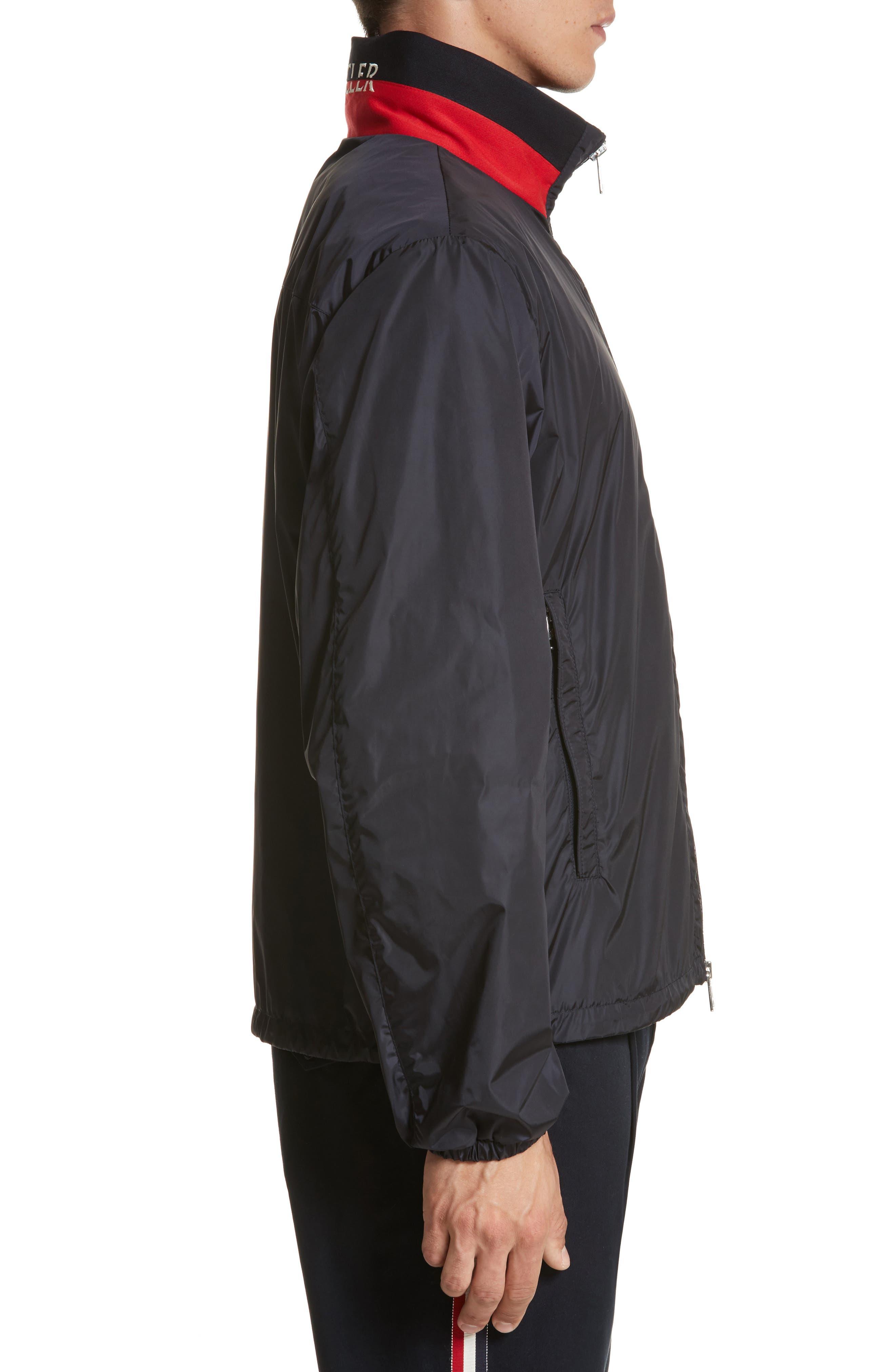 Goulier Nylon Jacket,                             Alternate thumbnail 3, color,                             Navy