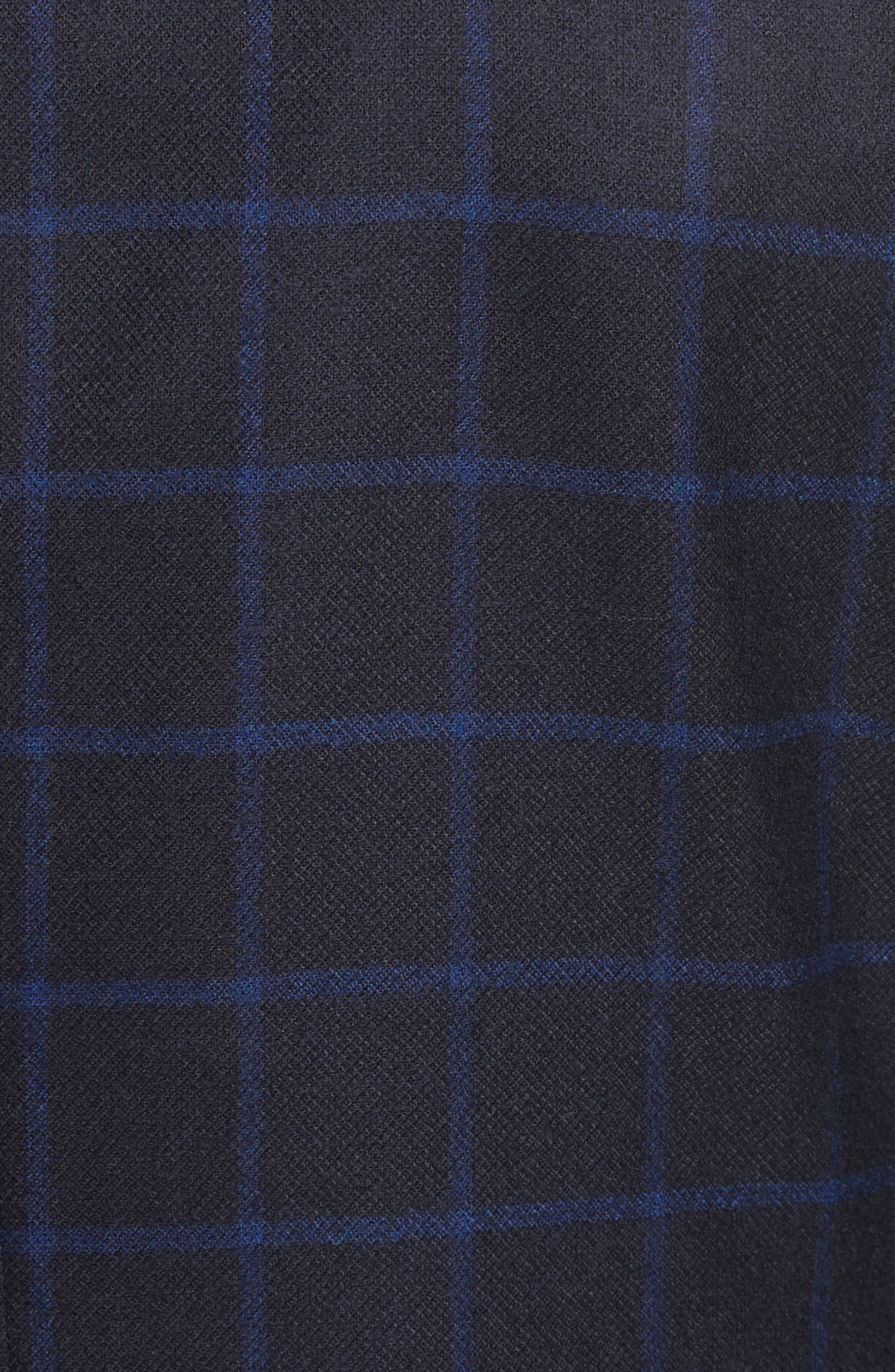Classic Fit Check Wool Sport Coat,                             Alternate thumbnail 5, color,                             Navy Check