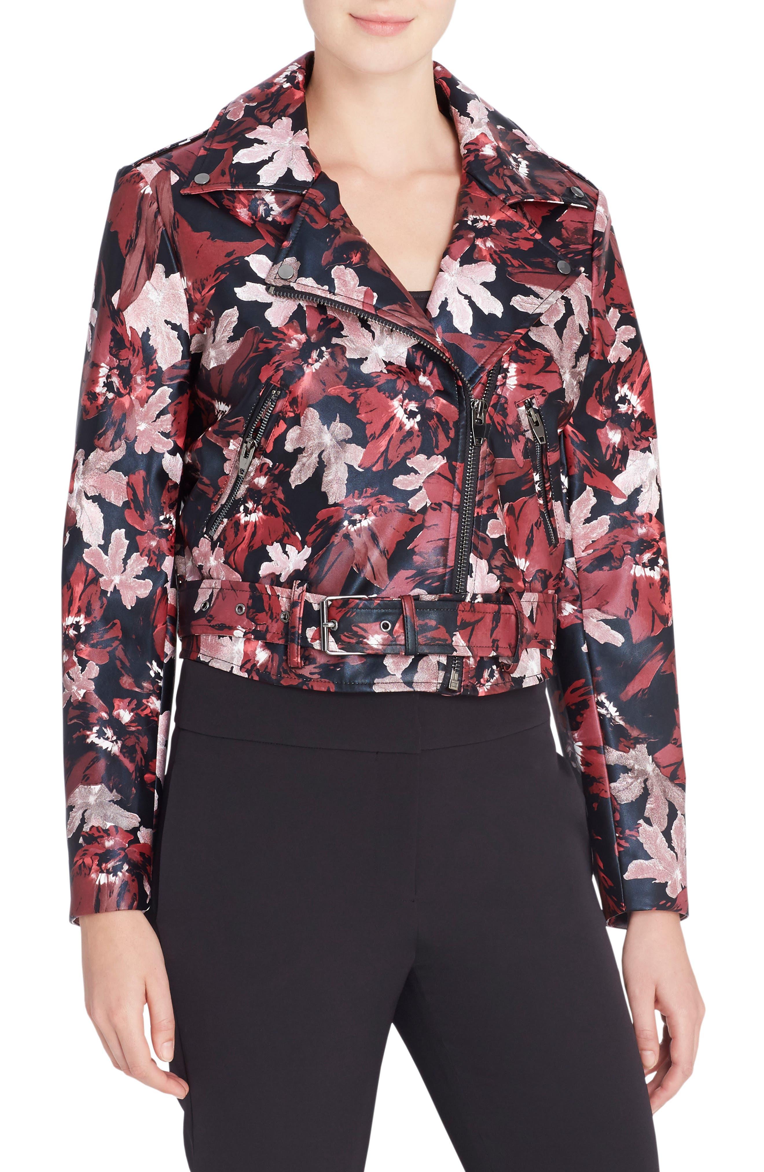 Alternate Image 1 Selected - Catherine Catherine Malandrino Veruca Faux Leather Moto Jacket
