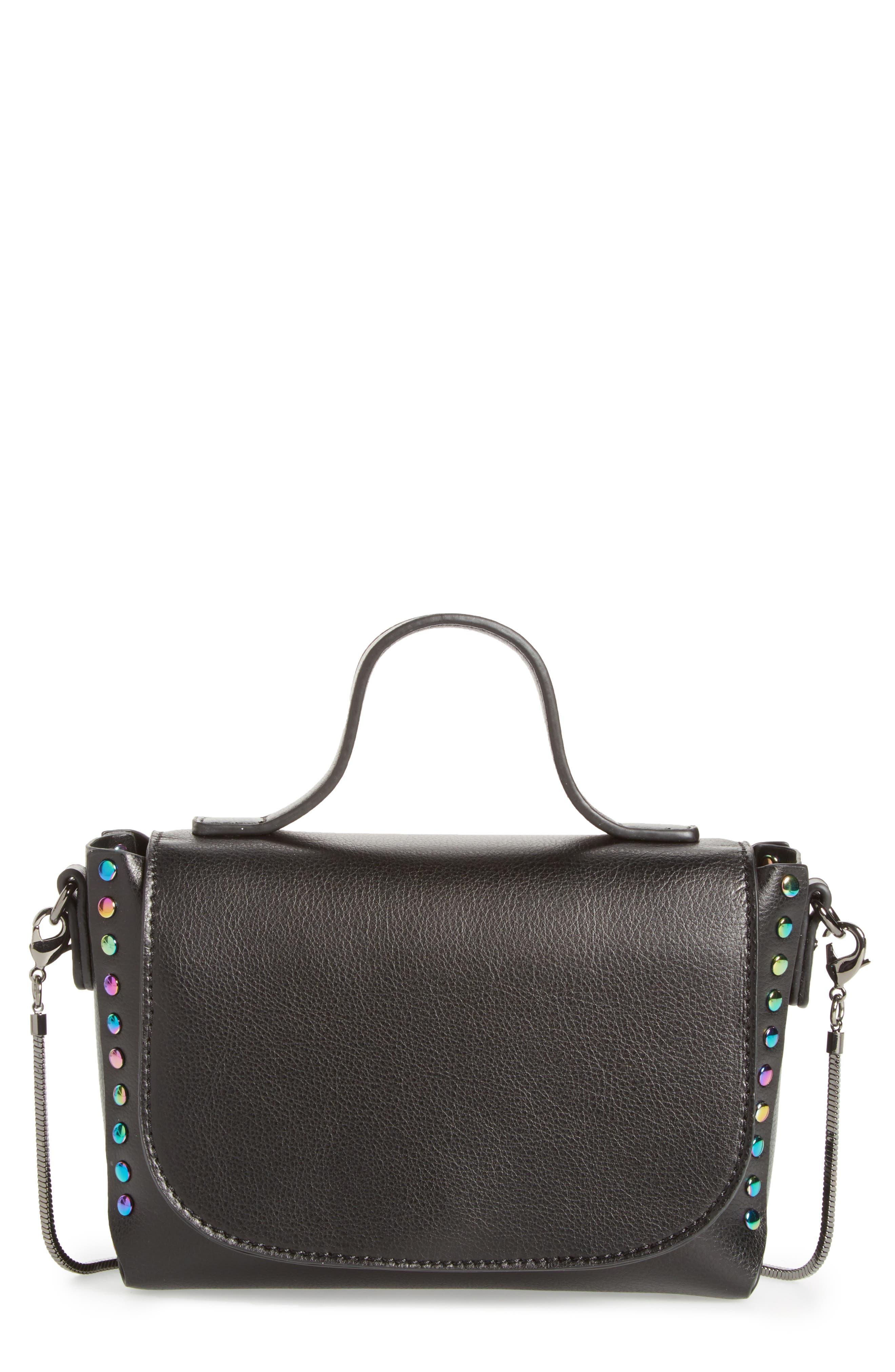 BP. Studded Mini Faux Leather Crossbody