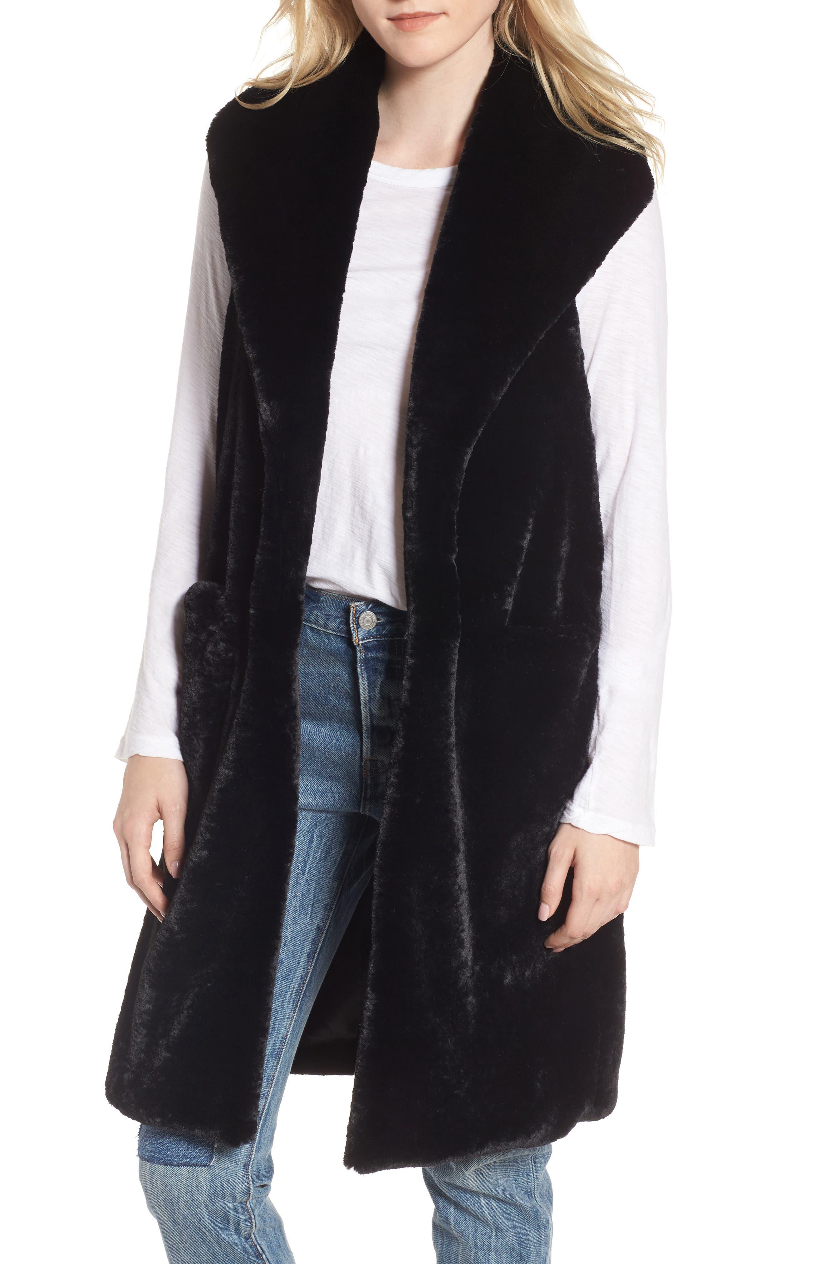Main Image - Heurueh Heather Faux Mink Fur Vest