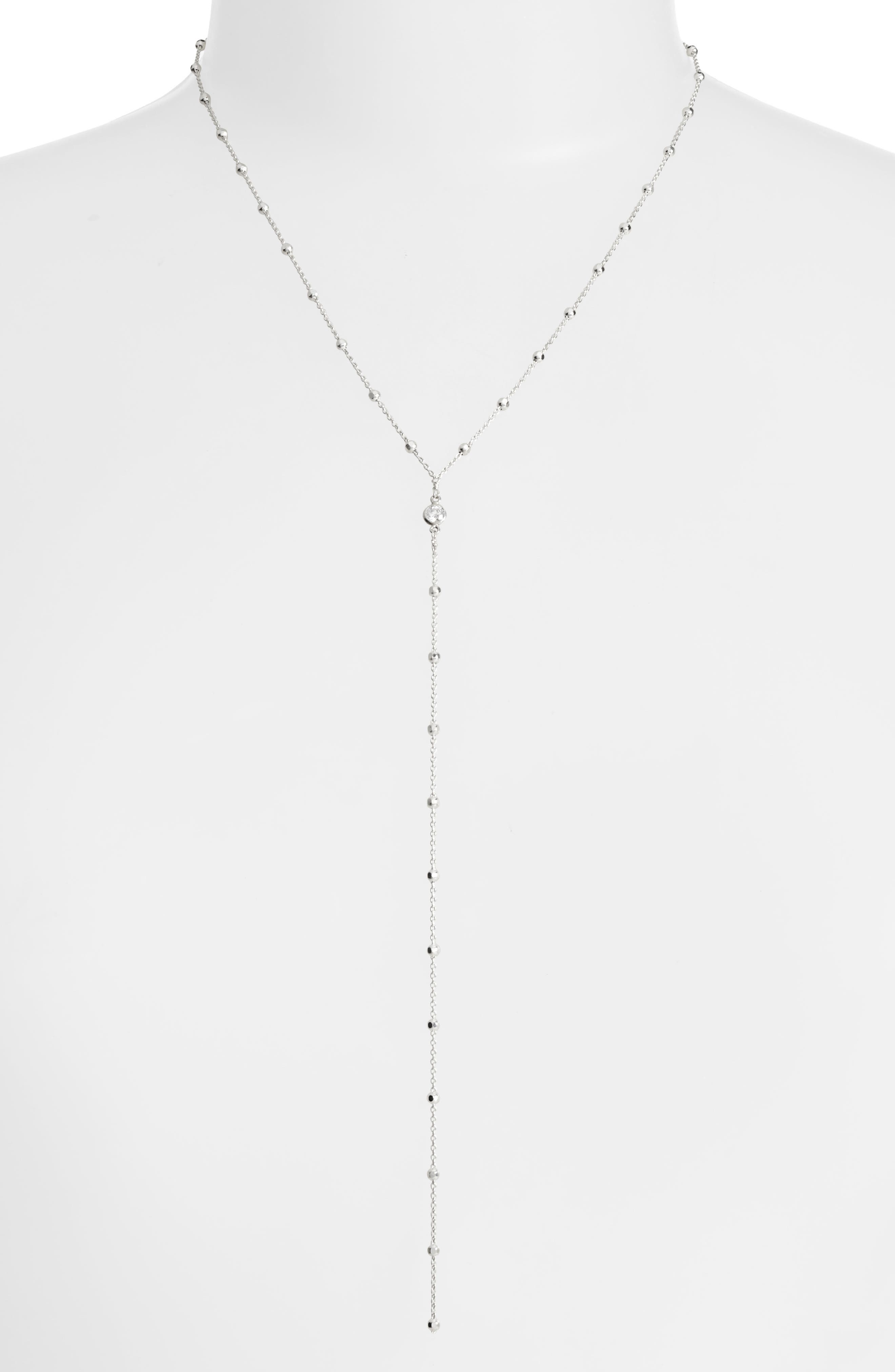 Main Image - Dogeared Crystal Y-Necklace