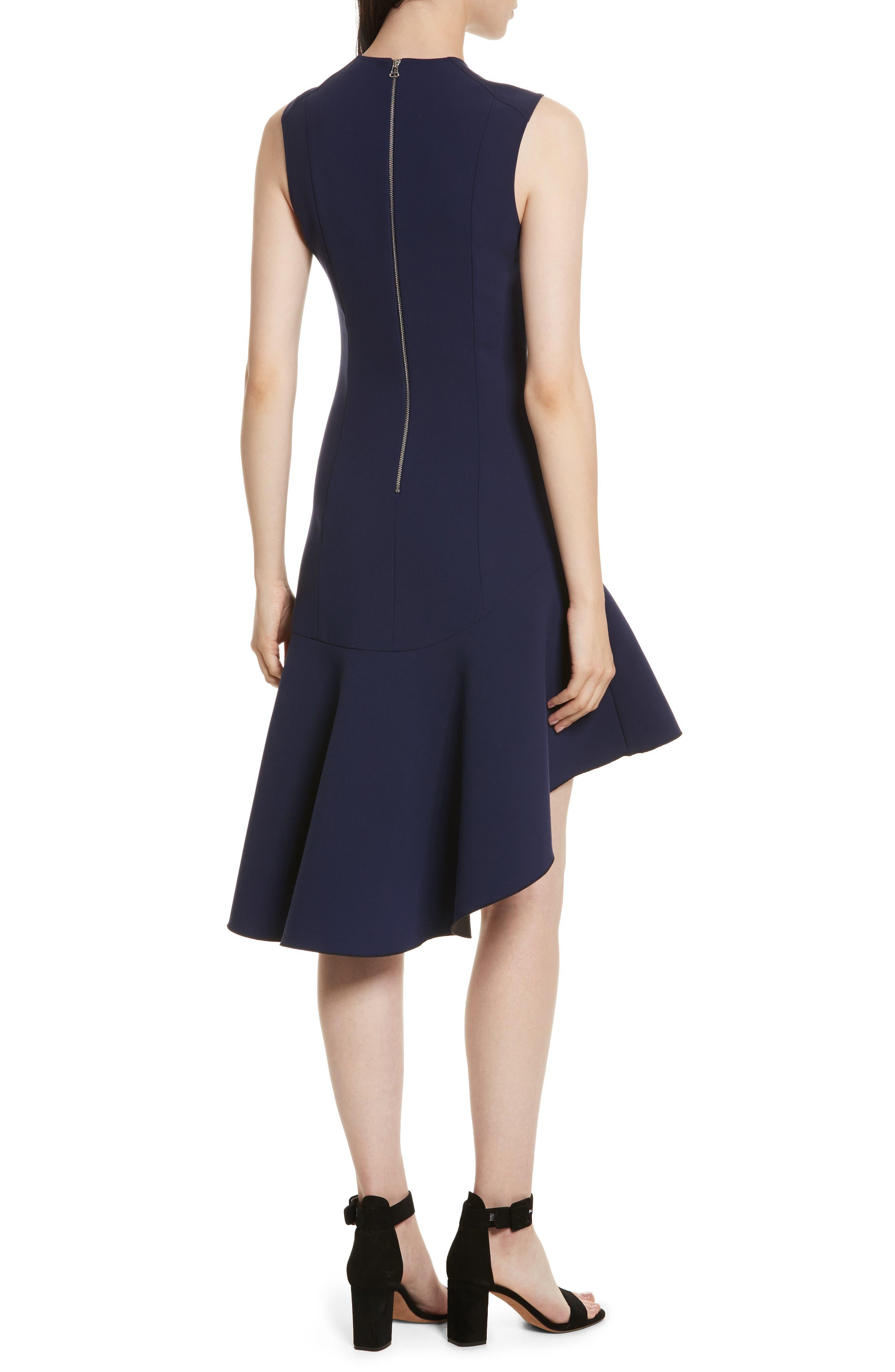 Dev Ruffle Fit & Flare Dress,                             Alternate thumbnail 2, color,                             Blue Violet/ Black