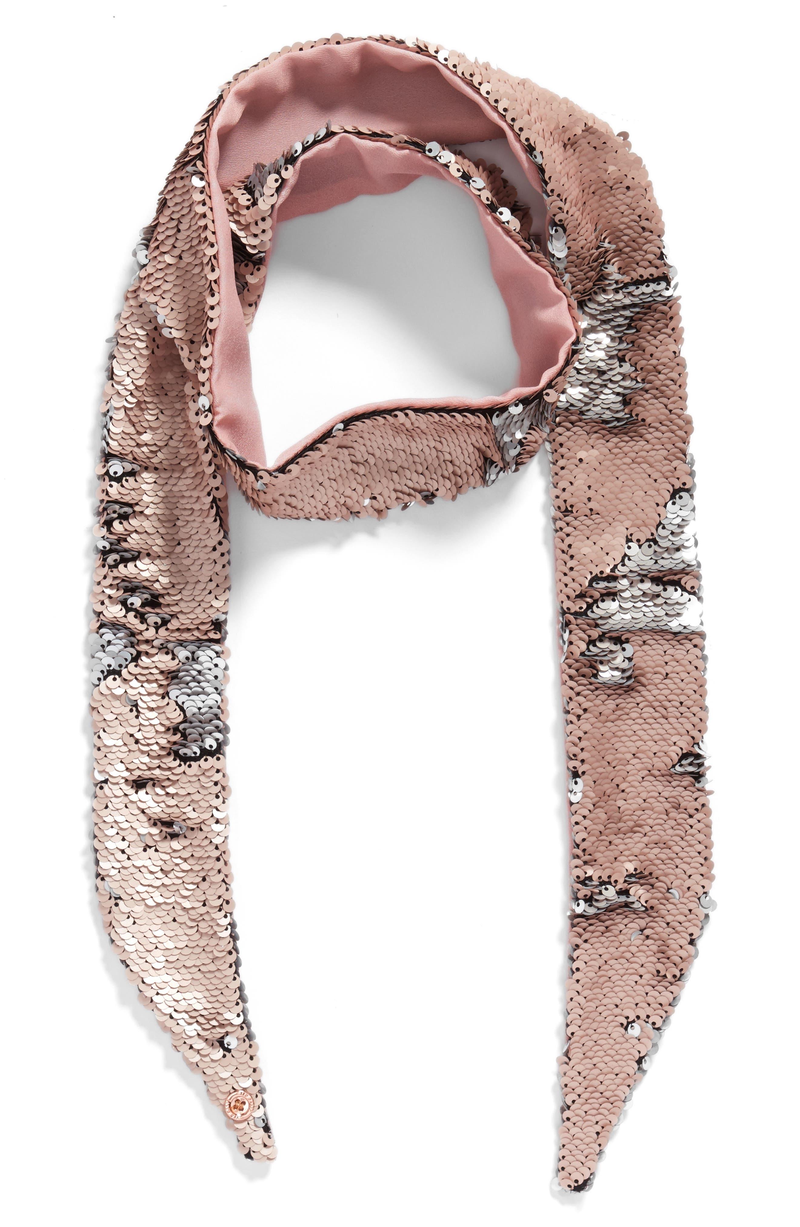 Alternate Image 2  - Ted Baker London Sequin Velvet Skinny Scarf