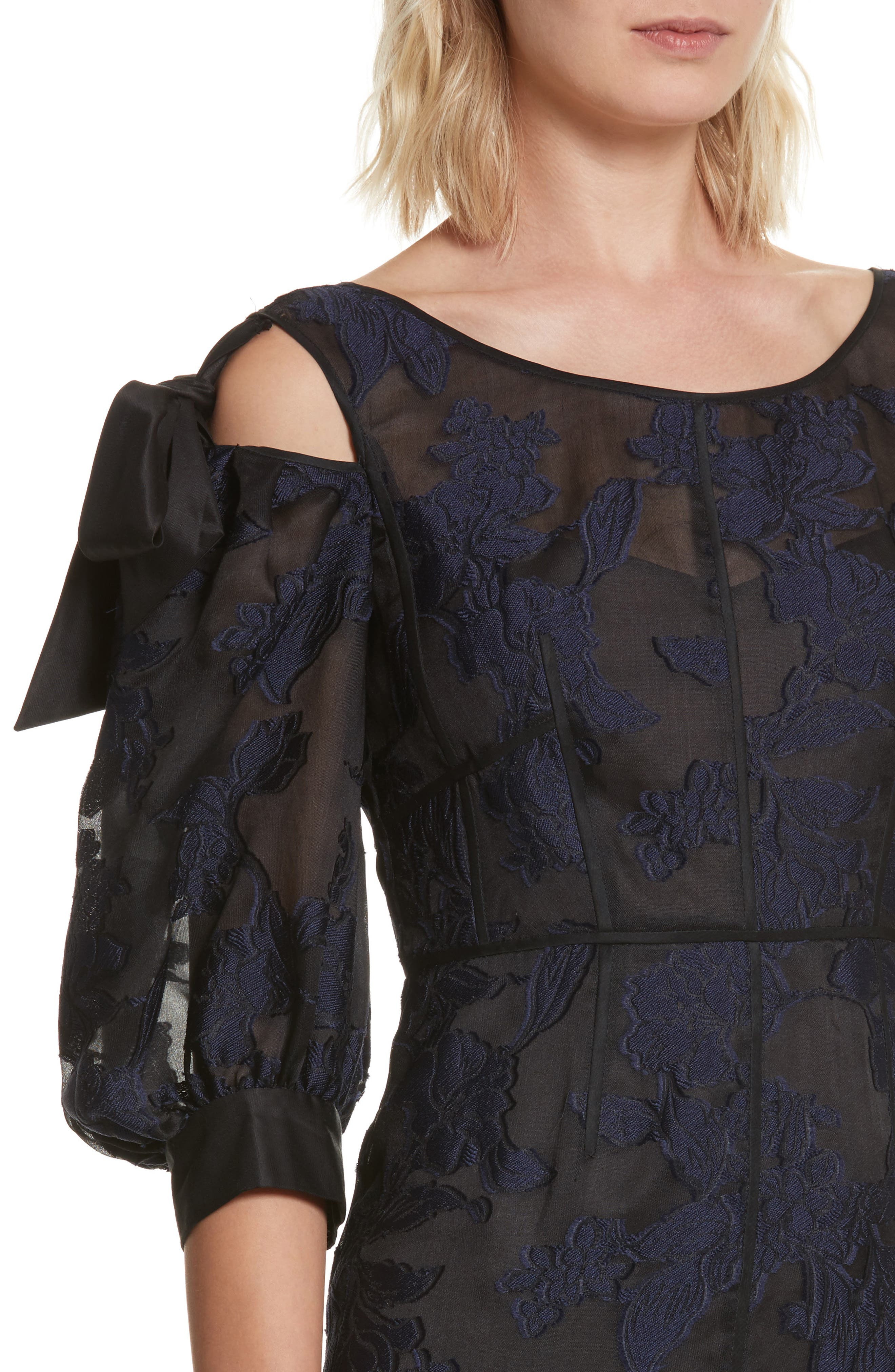 Alternate Image 4  - Rebecca Taylor Floral Organza Maxi Dress