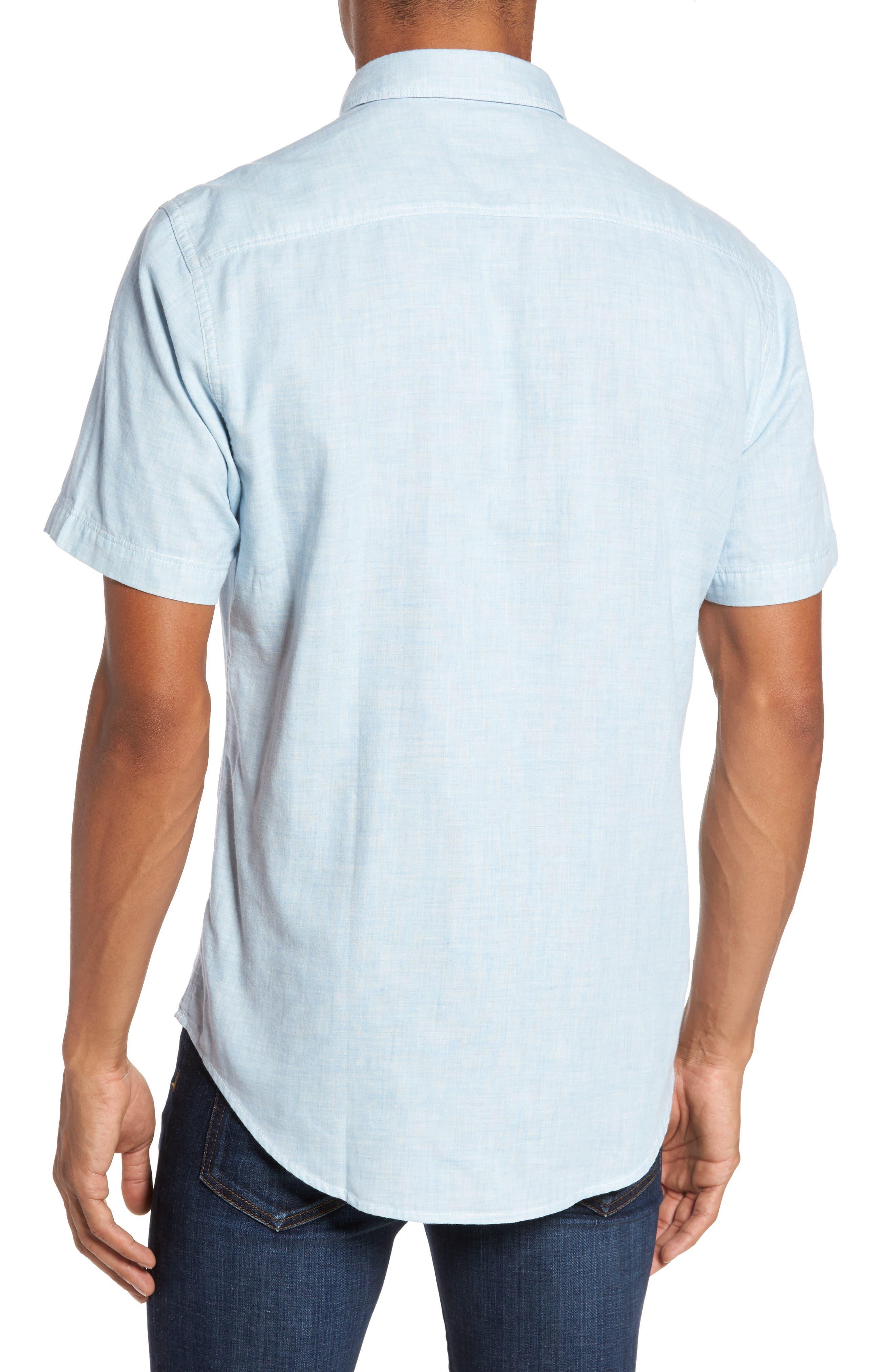 Encinitas Regular Fit Sport Shirt,                             Alternate thumbnail 2, color,                             Sky