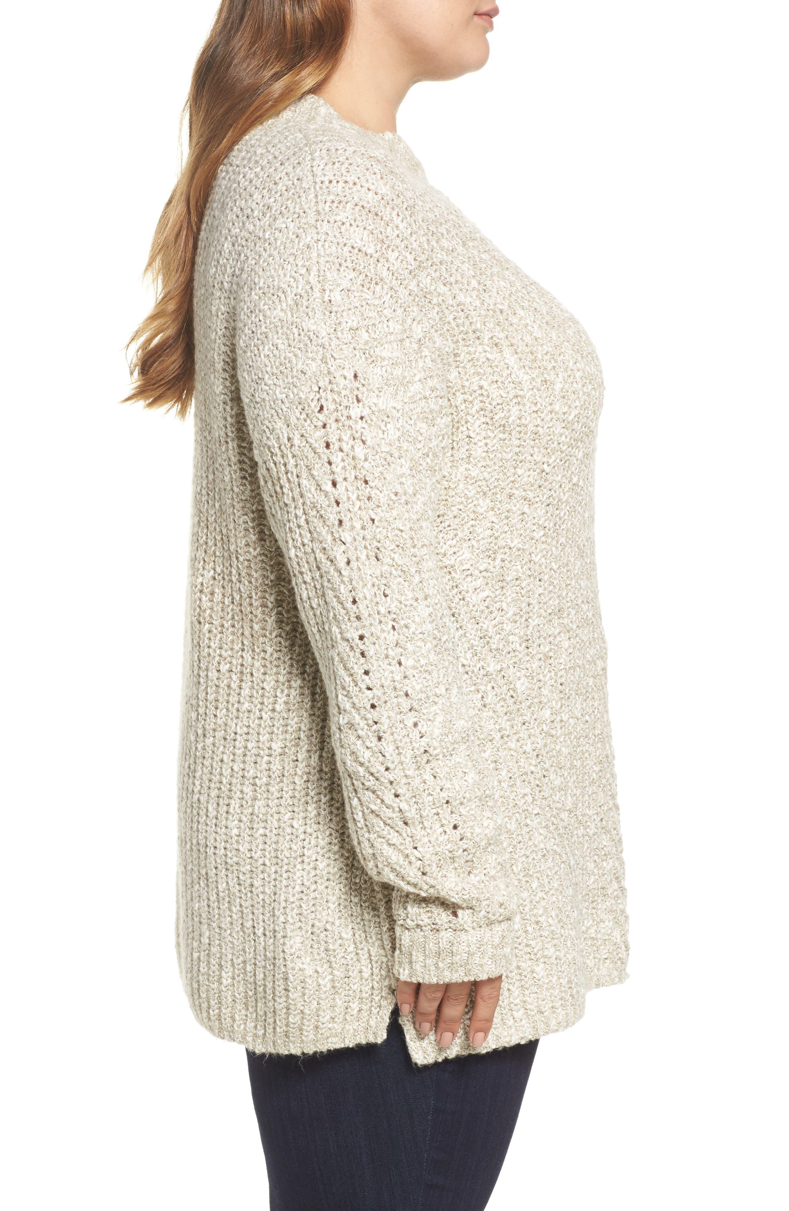 Open Stitch Sweater,                             Alternate thumbnail 3, color,                             Natural Multi