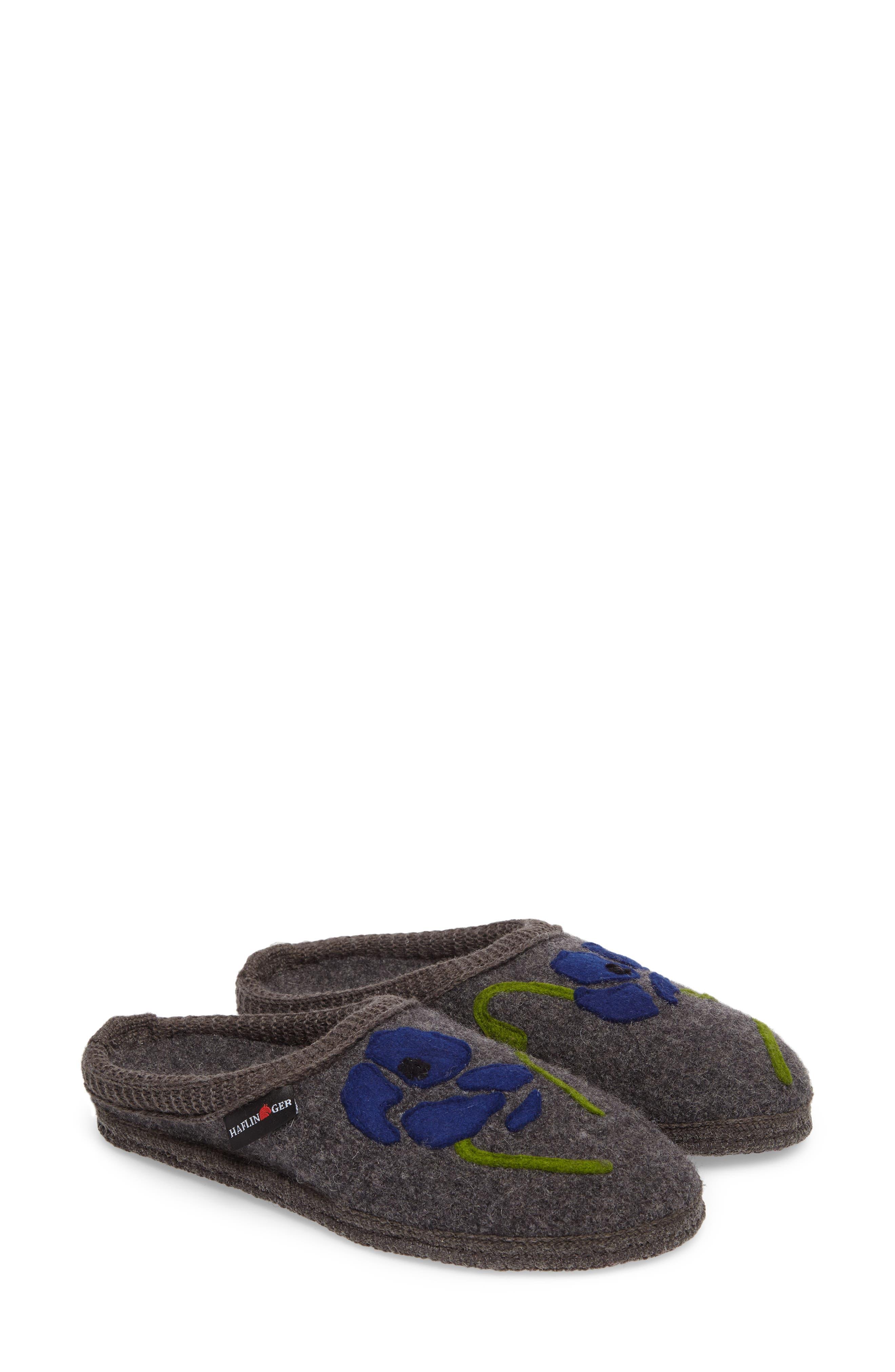 Blossom Slipper,                             Alternate thumbnail 2, color,                             Grey Wool