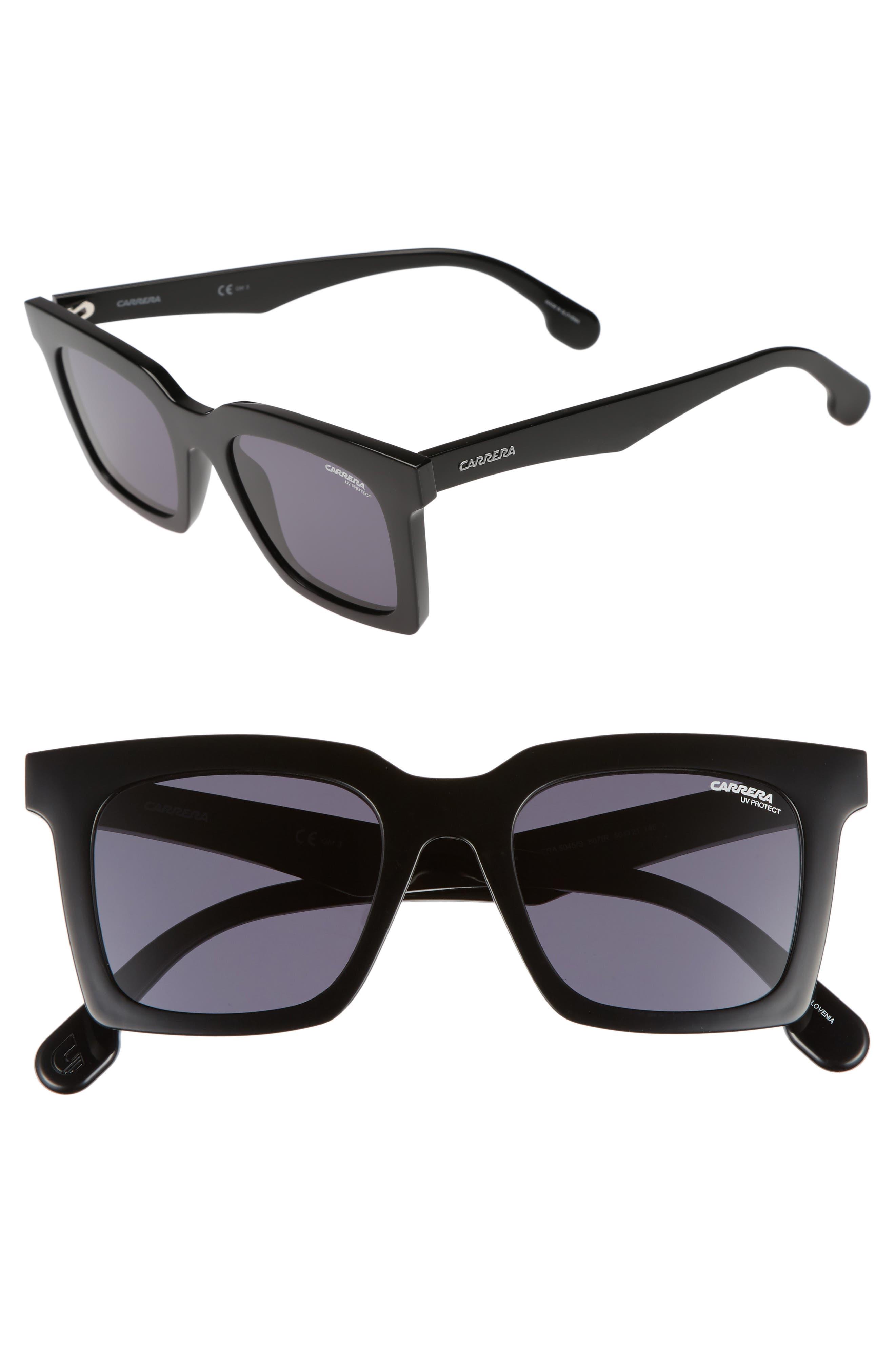 5045S 50mm Sunglasses,                             Main thumbnail 1, color,                             Black/ Gray Blue
