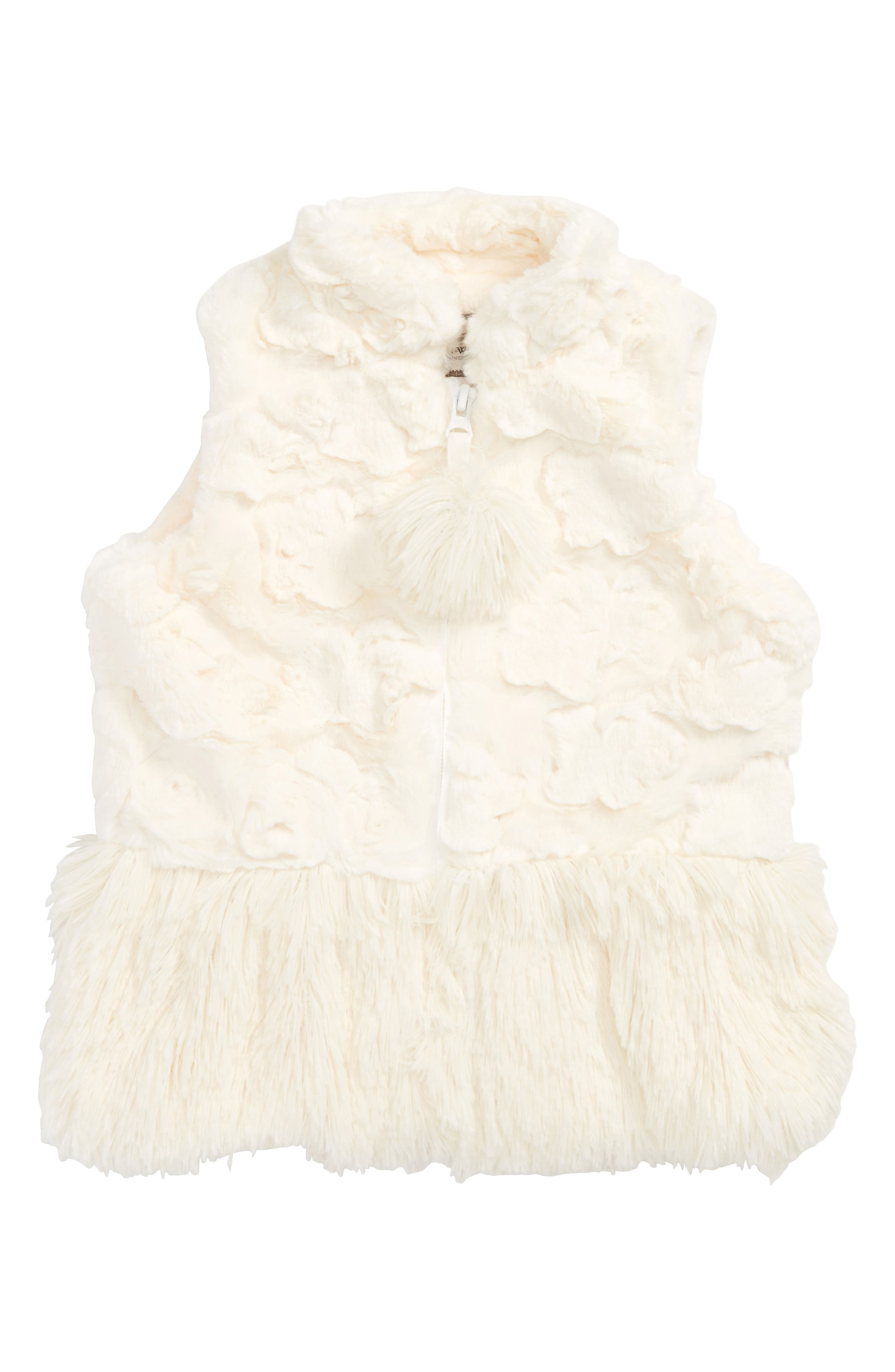 Main Image - Widgeon Faux Fur Peplum Vest (Toddler Girls & Little Girls)