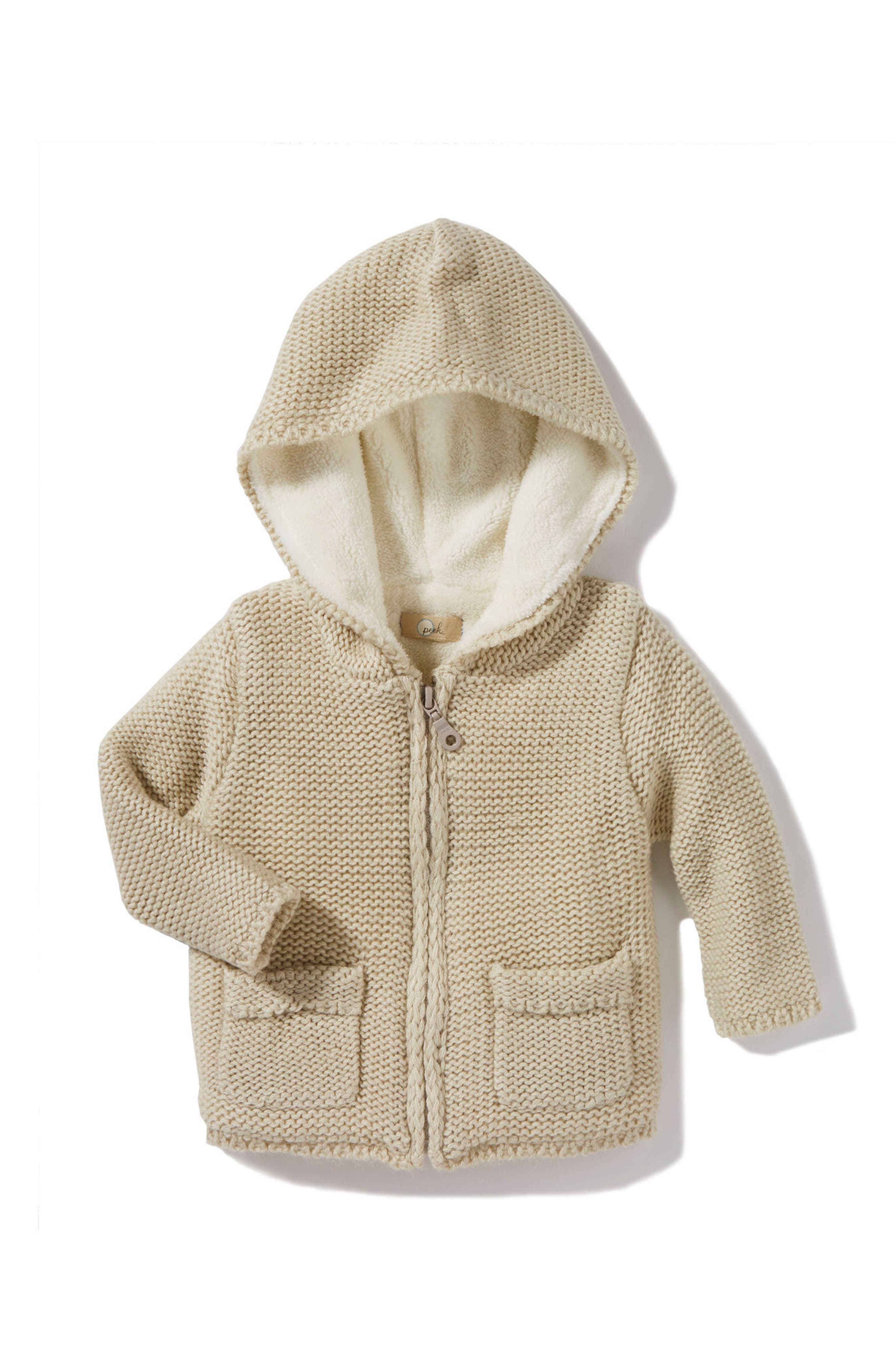 Peek Skyler Hooded Sweater,                         Main,                         color, Oatmeal
