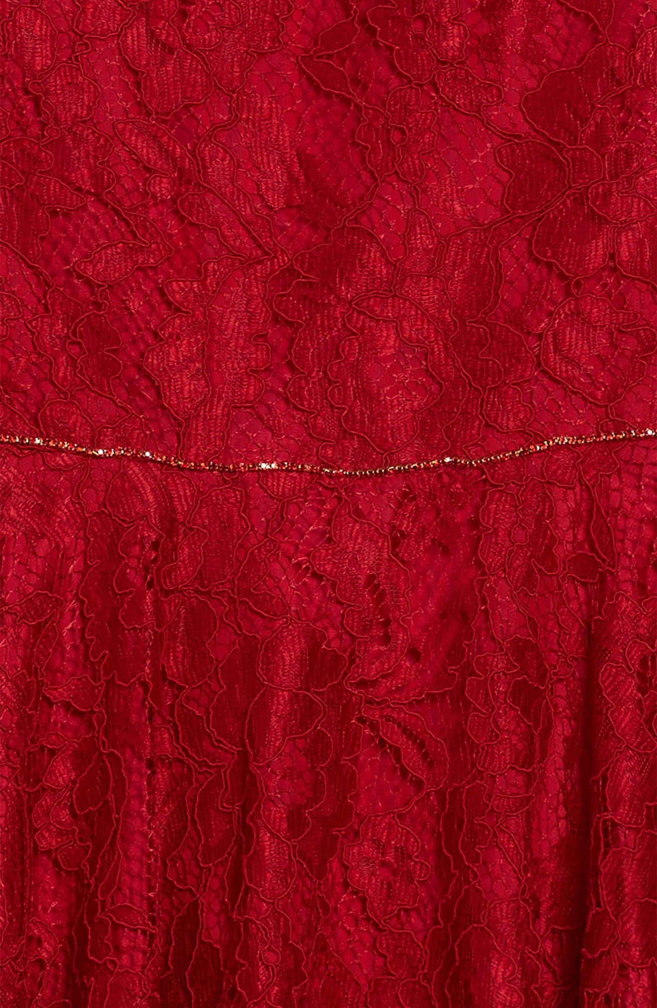 Alternate Image 5  - David Charles Bell Sleeve Lace Dress (Big Girls)