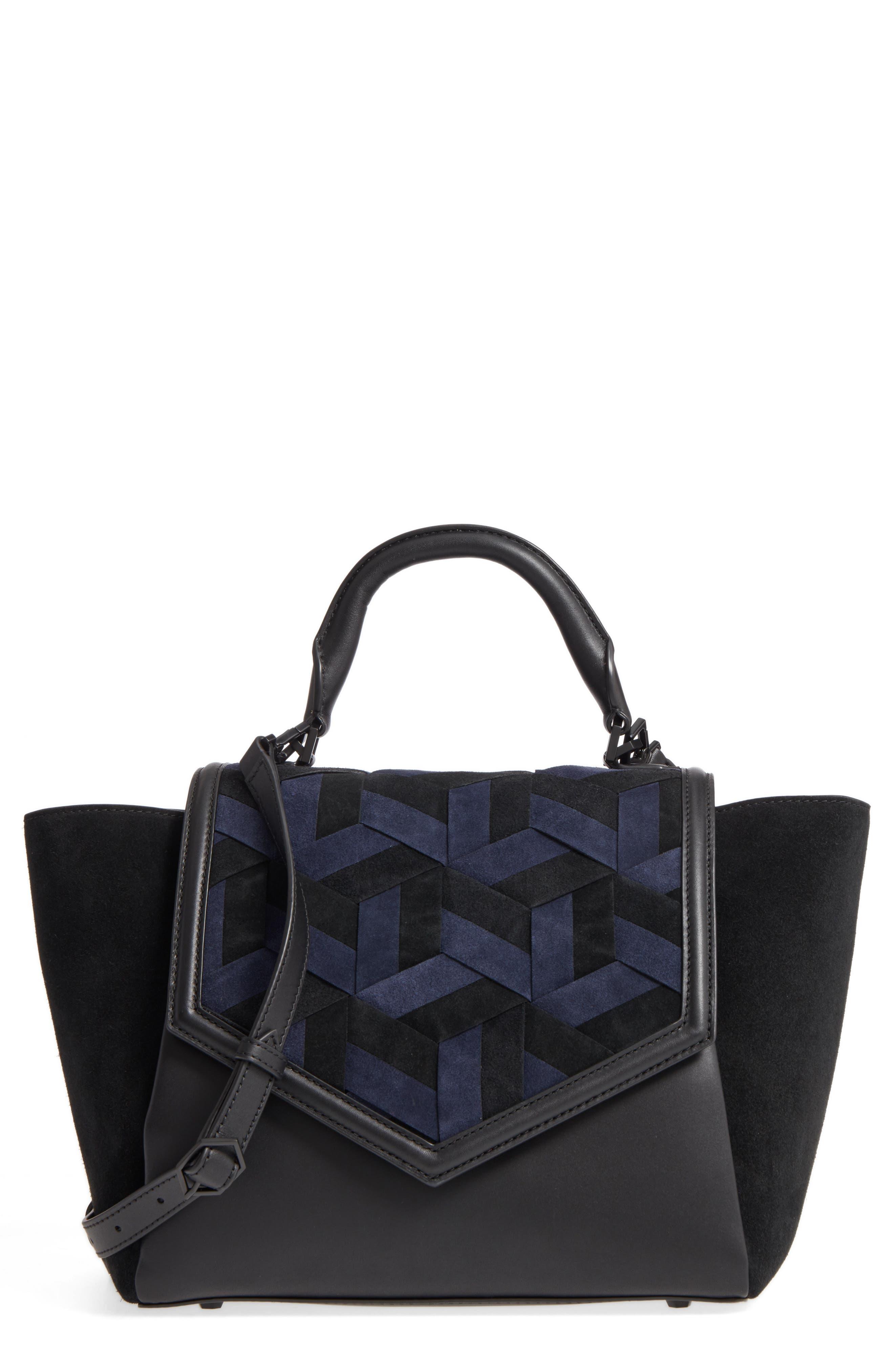 Main Image - WELDEN Saunter Colorblocked Leather & Suede Top Handle Satchel