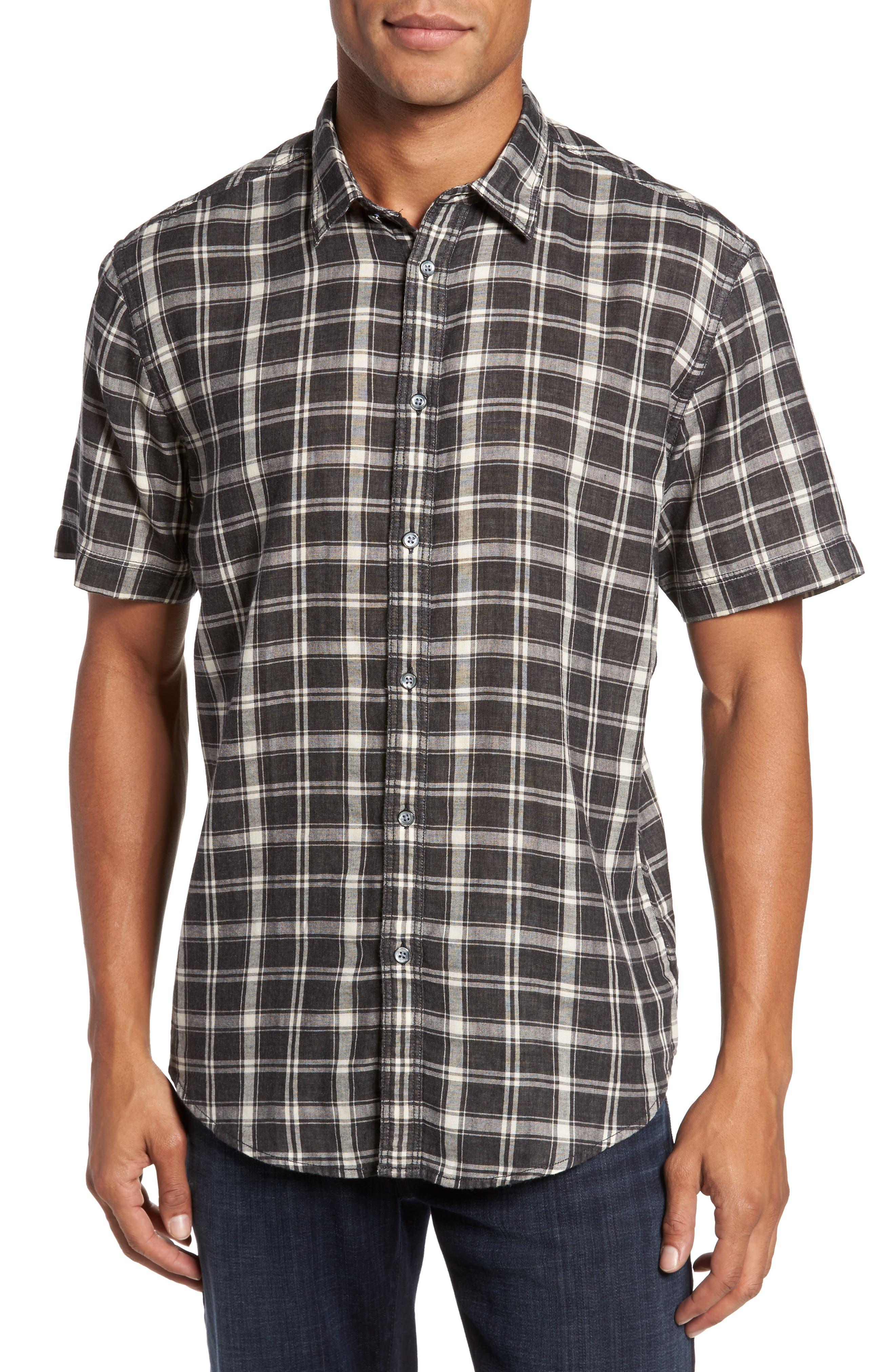 Alternate Image 1 Selected - Coastaoro Hansen Regular Fit Plaid Sport Shirt