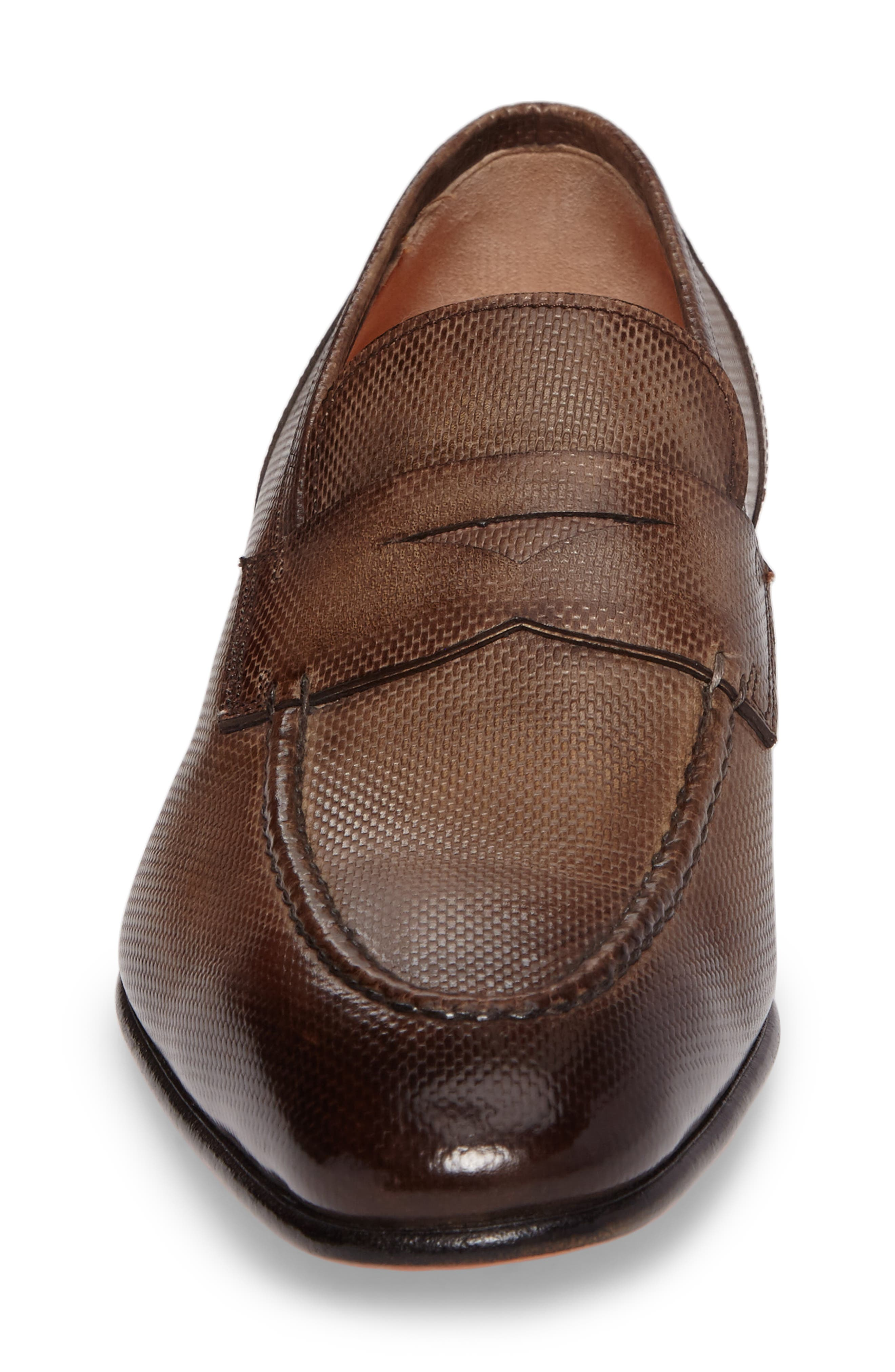 Felipe Penny Loafer,                             Alternate thumbnail 4, color,                             Brown