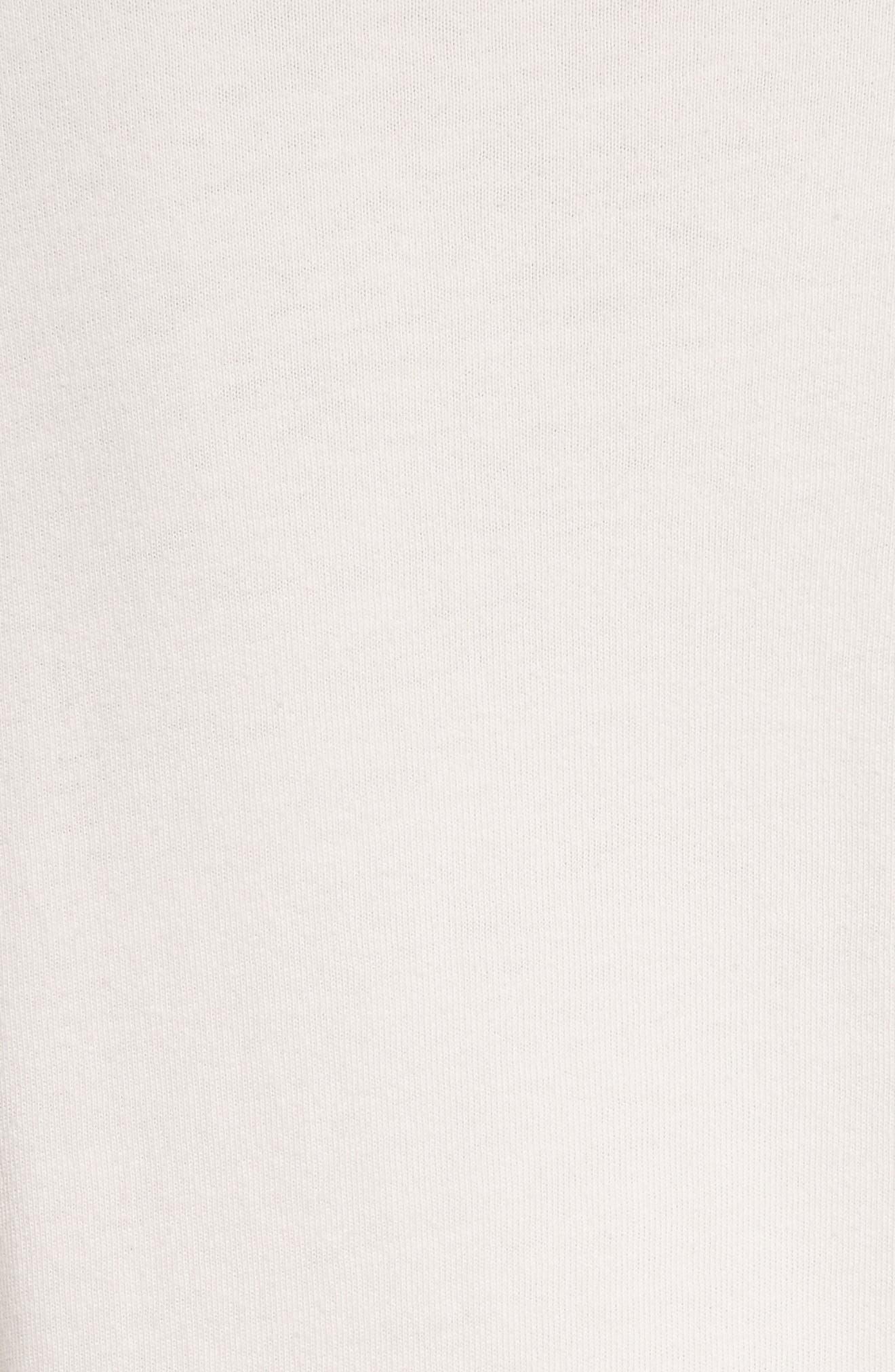 Ruffle Long Sleeve Tee,                             Alternate thumbnail 5, color,                             Light Pink