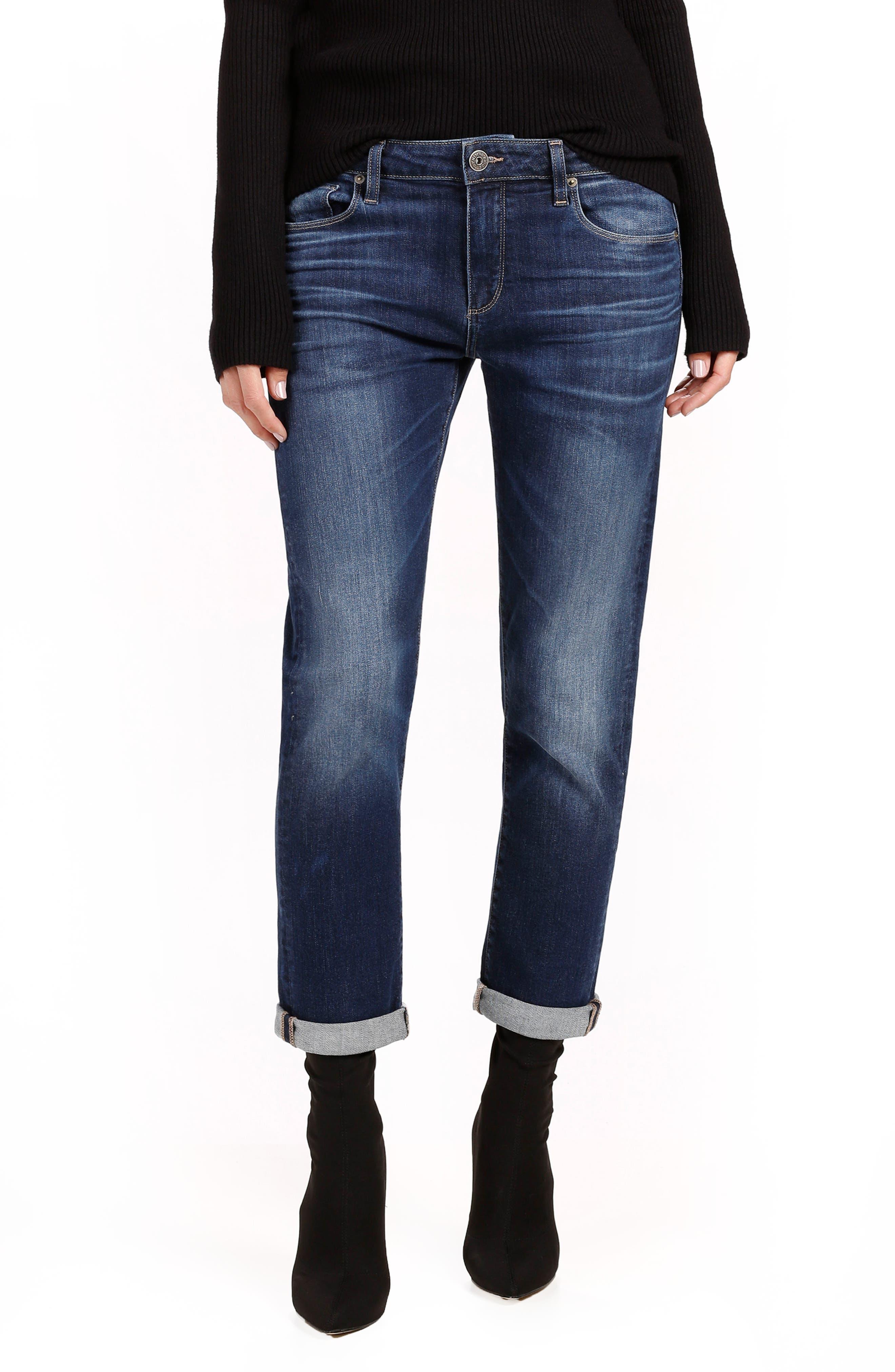 Alternate Image 1 Selected - PAIGE Brigitte High Waist Crop Boyfriend Jeans