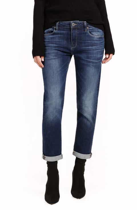 PAIGE Brigitte High Waist Crop Boyfriend Jeans (Enchant)